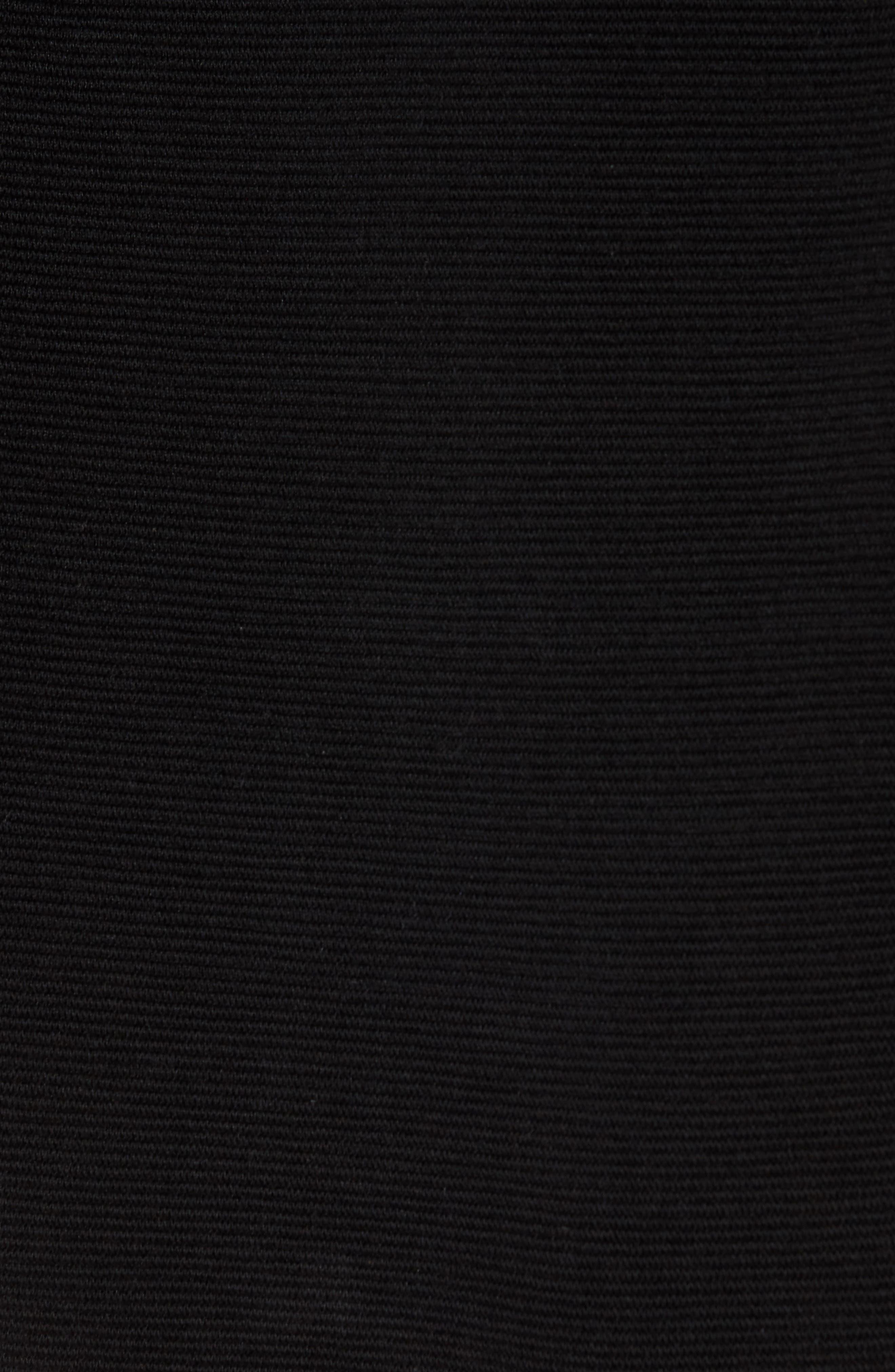 Ottoman Zip Cardigan,                             Alternate thumbnail 5, color,                             Black
