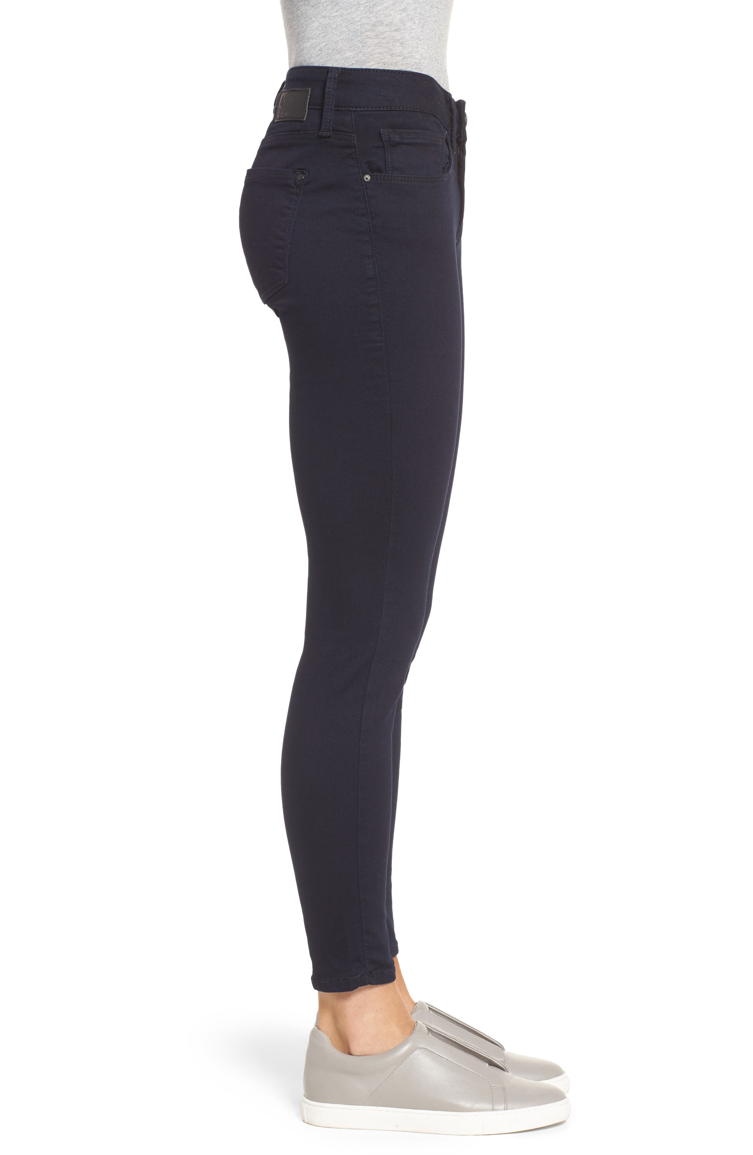 Alternate Image 3  - Mavi Jeans 'Alexa' Midrise Skinny Jeans (Dark Shanty)