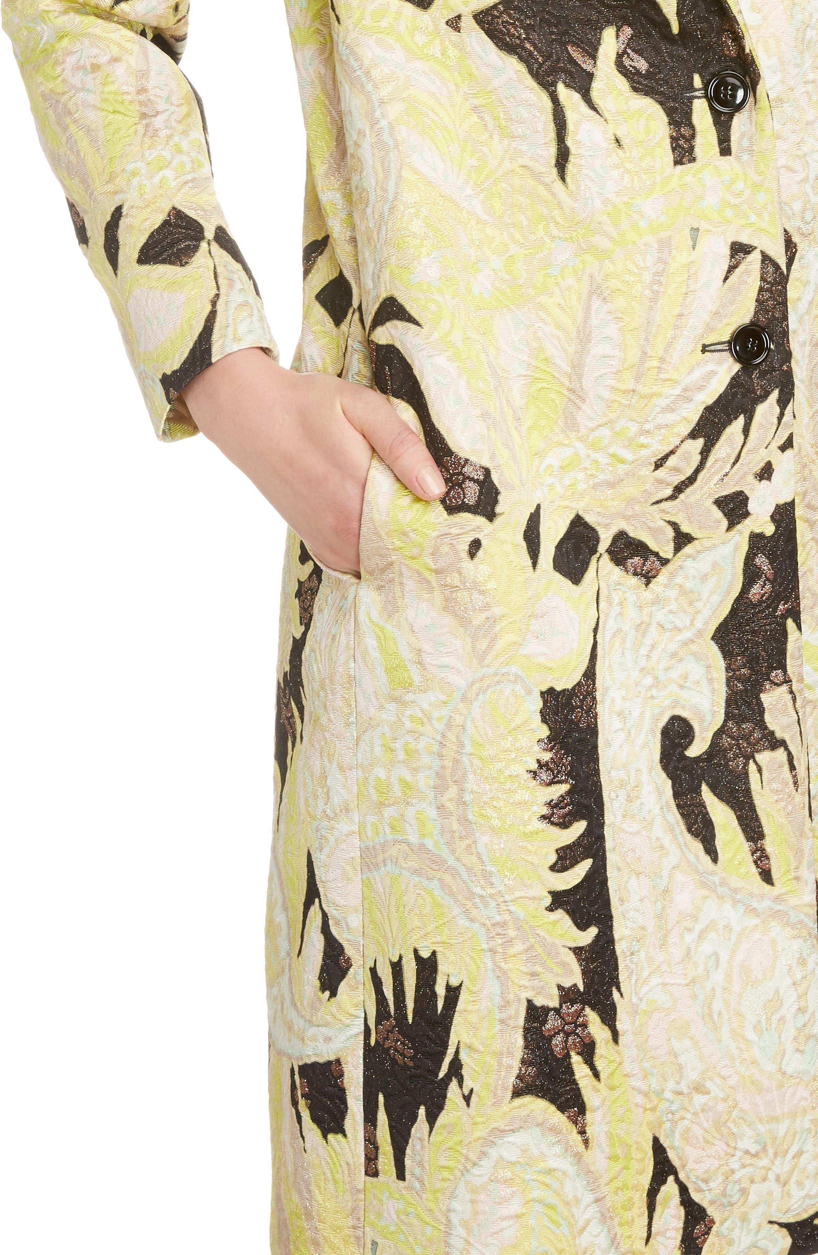 Alternate Image 4  - Dries Van Noten Paisley Brocade Coat