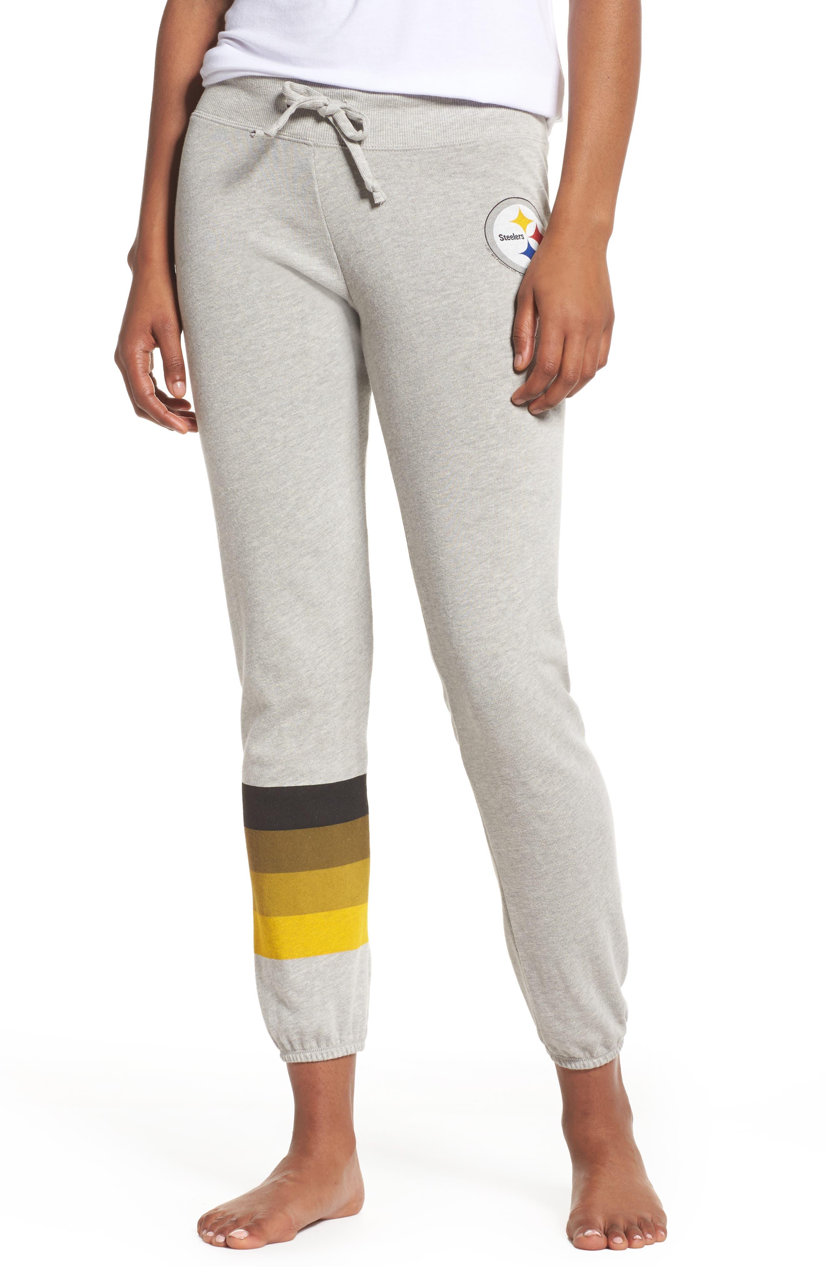 NFL Pittsburgh Steelers Hacci Sweatpants,                         Main,                         color, Dove Heather Grey