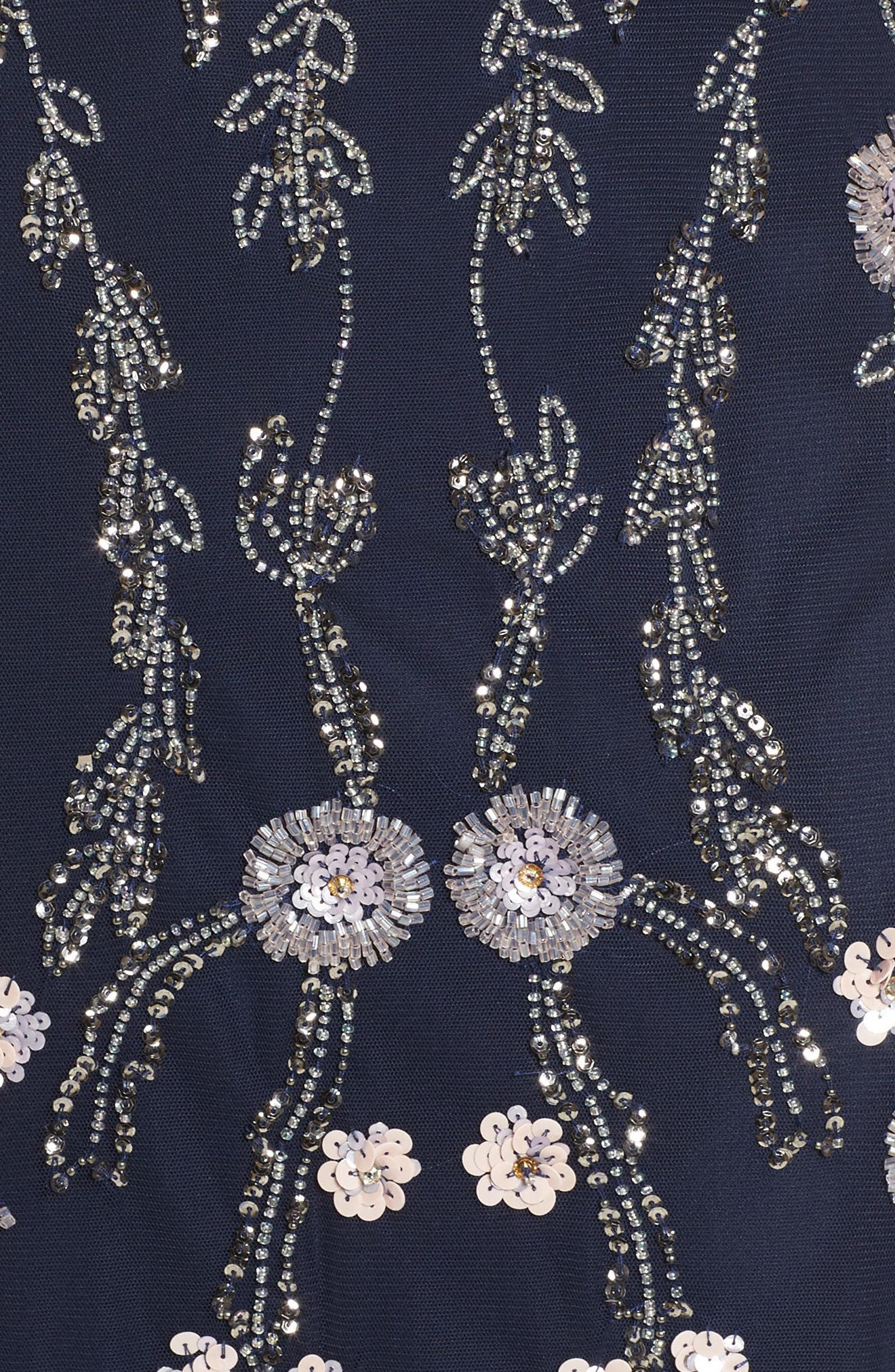 Alternate Image 5  - Adrianna Papell Mesh Blouson Gown (Regular & Petite)