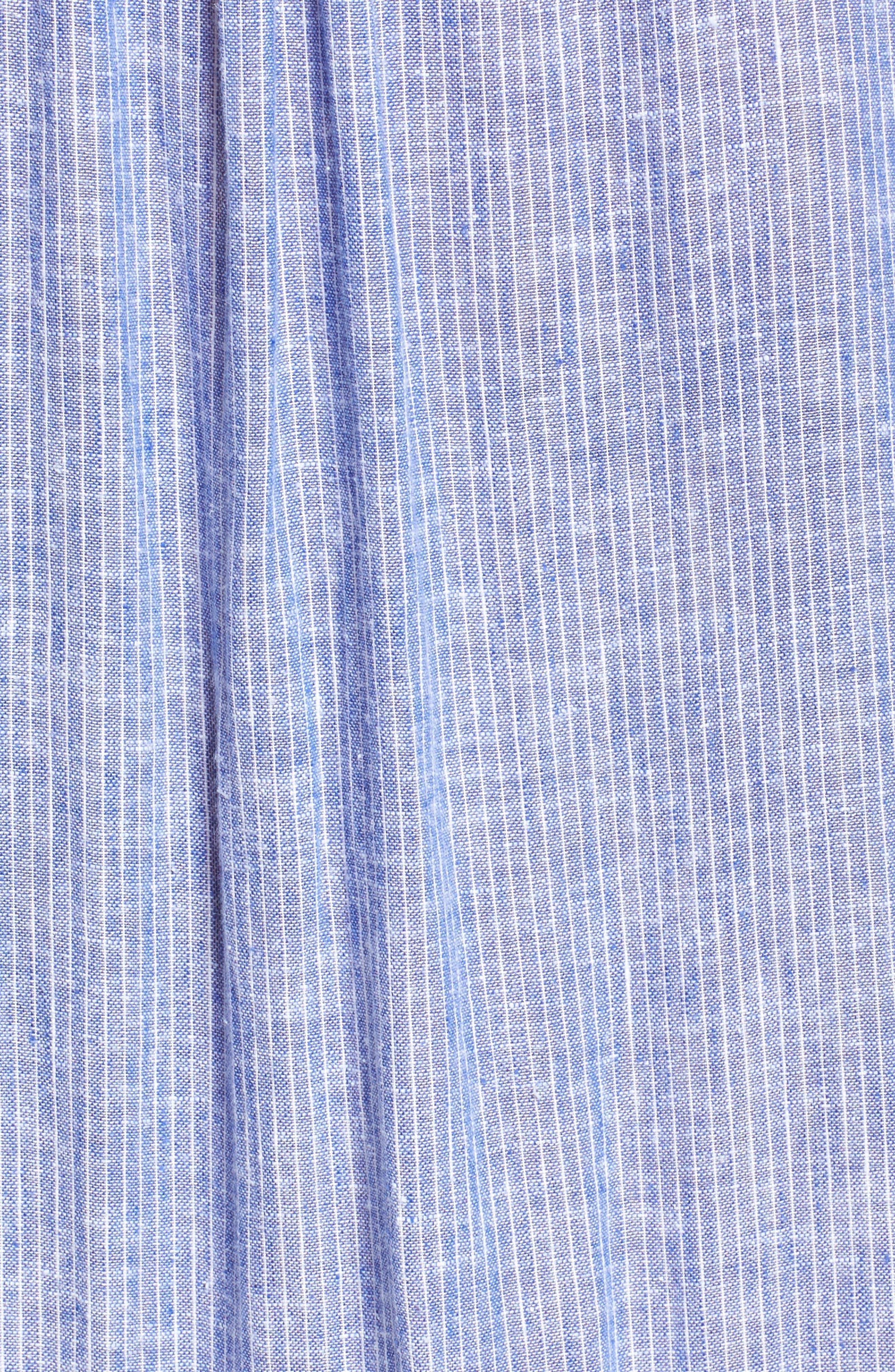 Lydia Dress,                             Alternate thumbnail 5, color,                             Royal White Stripe
