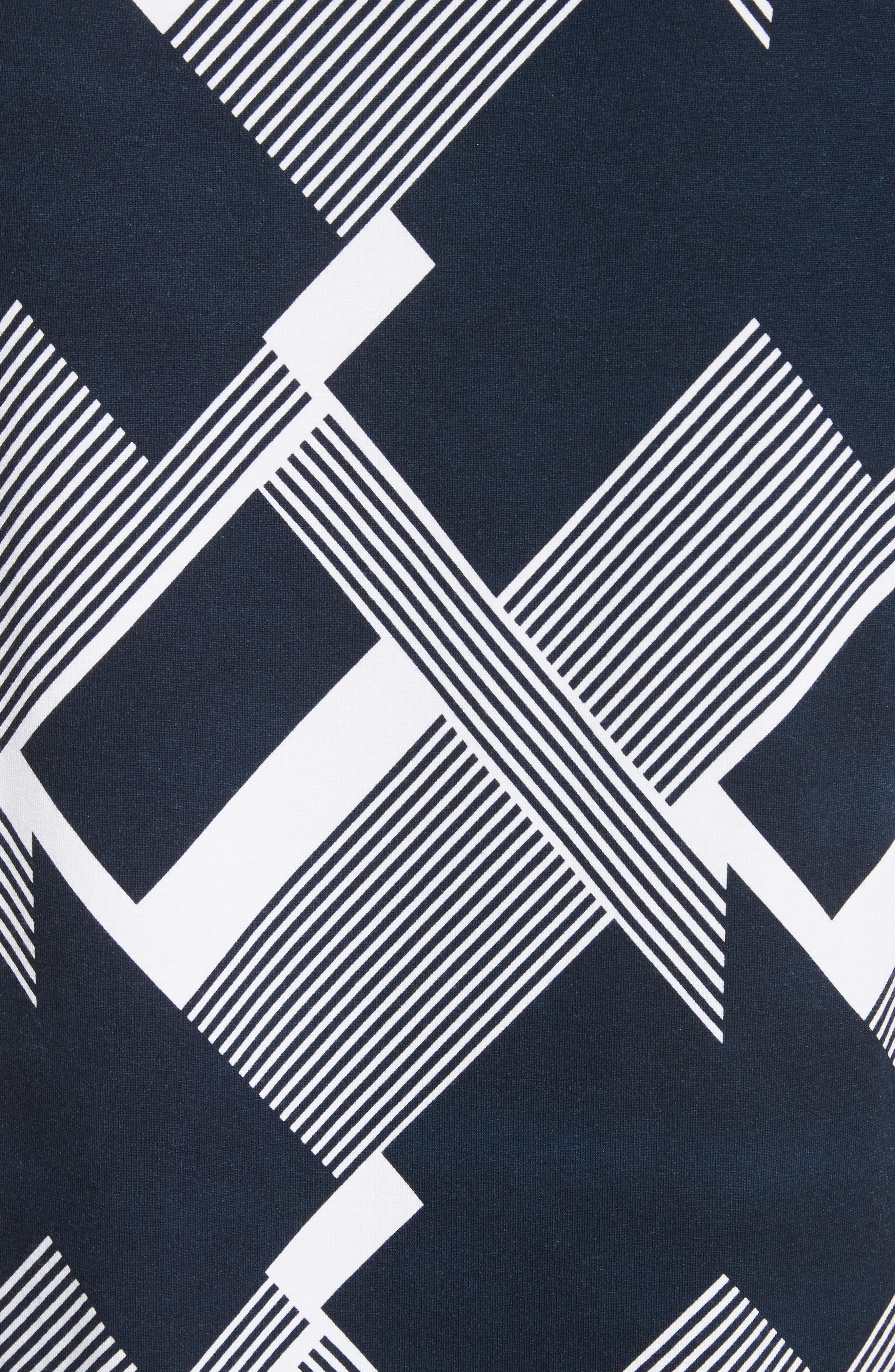 Geometric Line Print Tee,                             Alternate thumbnail 5, color,                             Navy/ Bianco