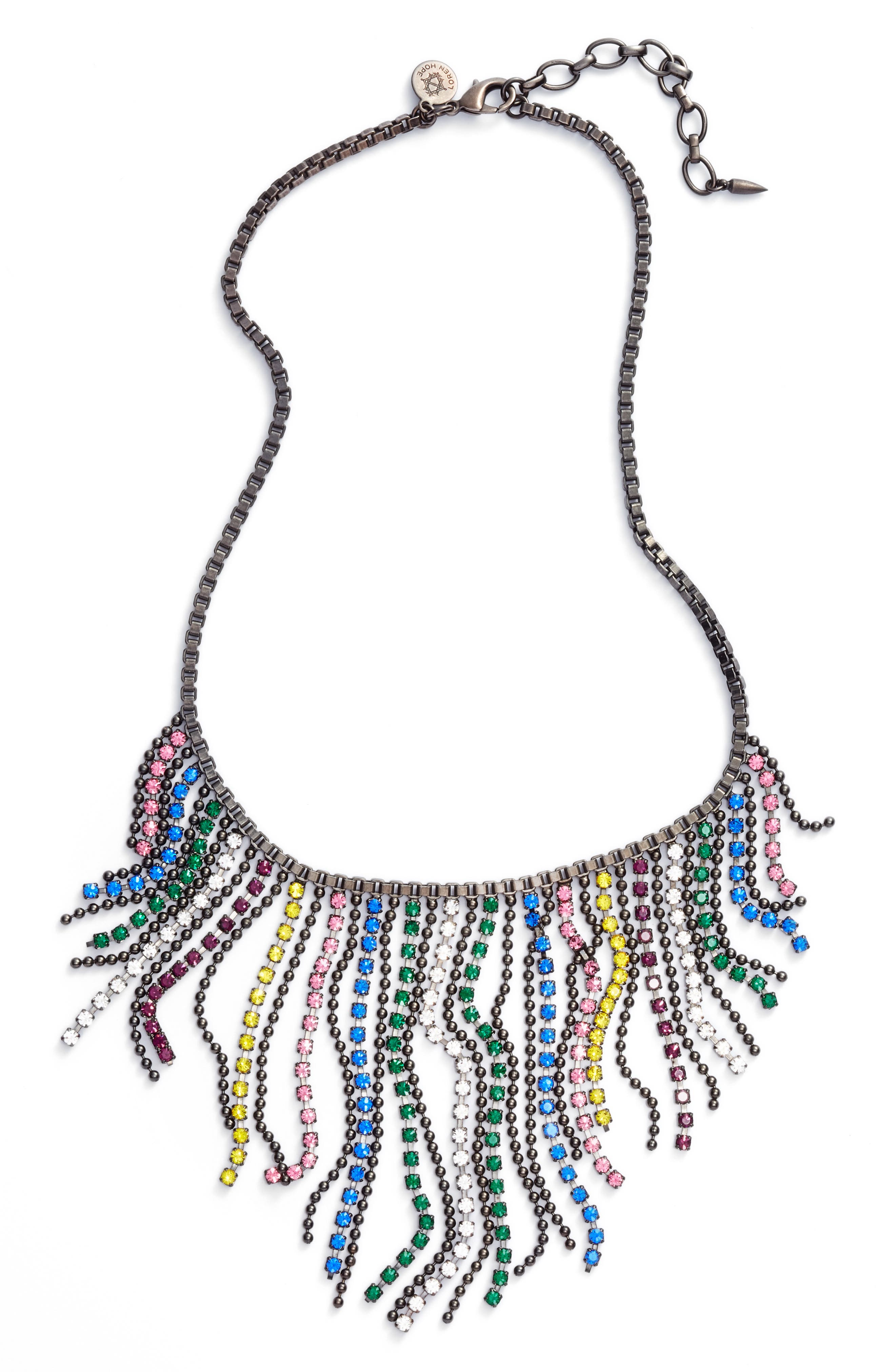 Joanna Frontal Necklace,                         Main,                         color, Multi