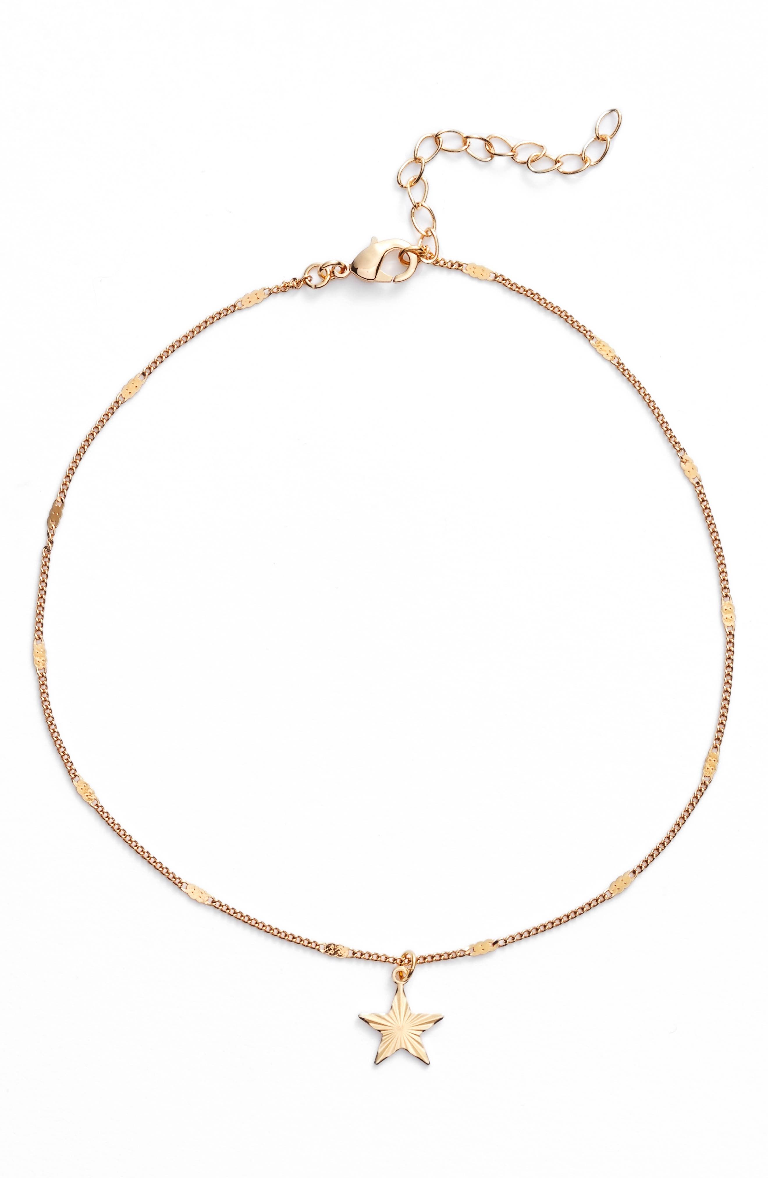 Kiss Me under the Stars Choker,                         Main,                         color, Gold