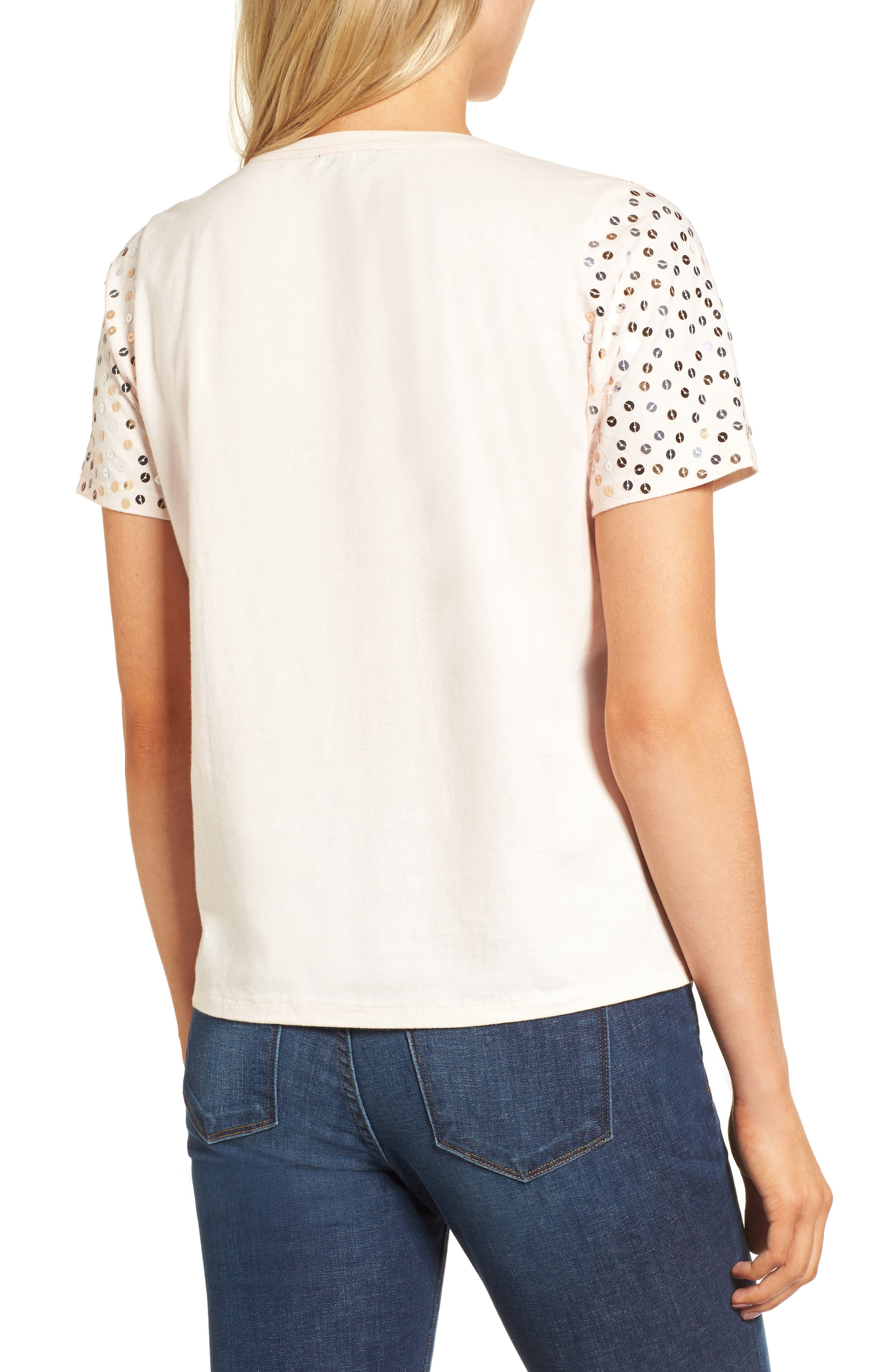 Alternate Image 2  - J.Crew Metallic Sequin Tee