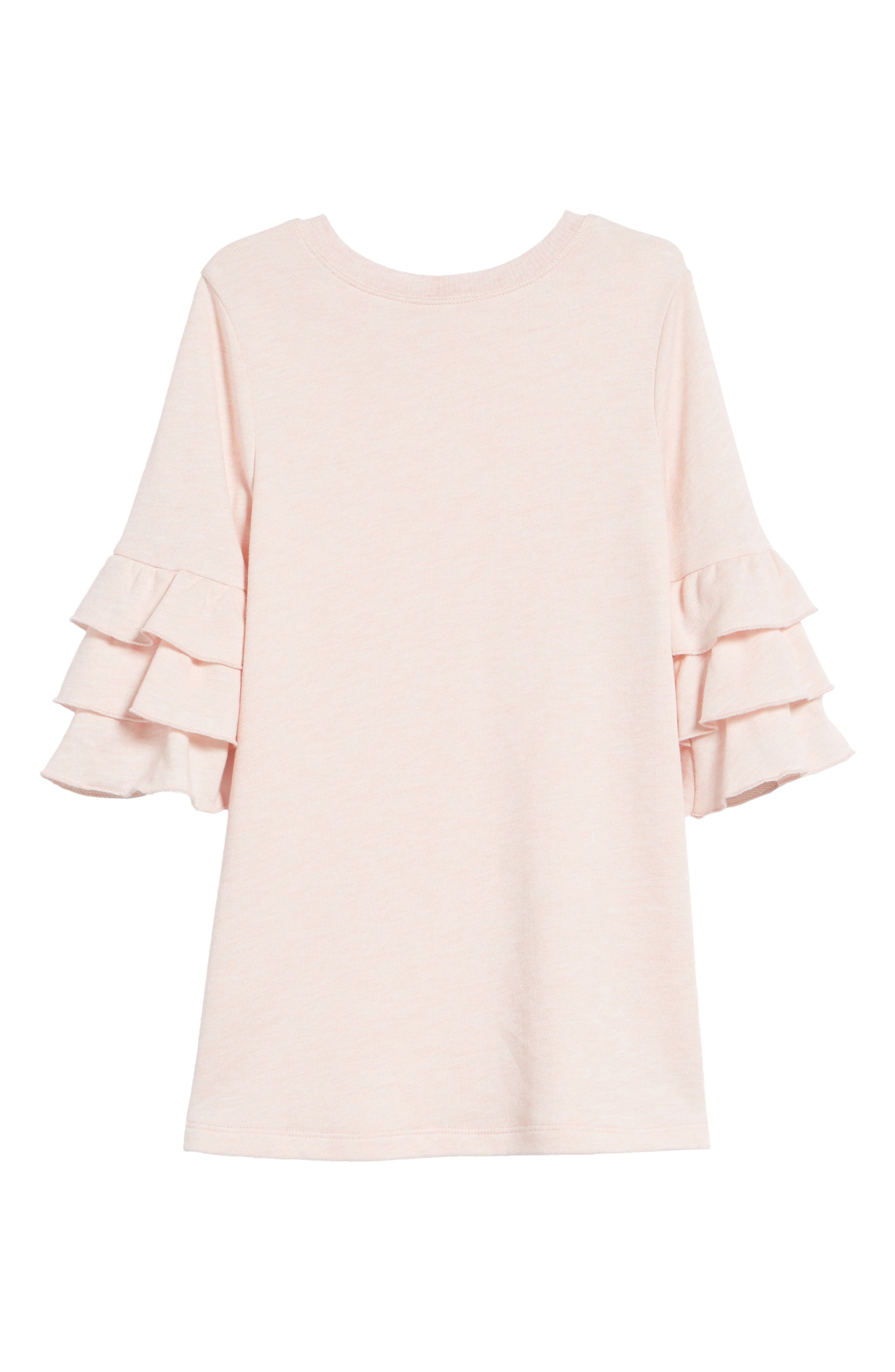 Ruffle Sleeve Dress,                             Alternate thumbnail 3, color,                             Pink