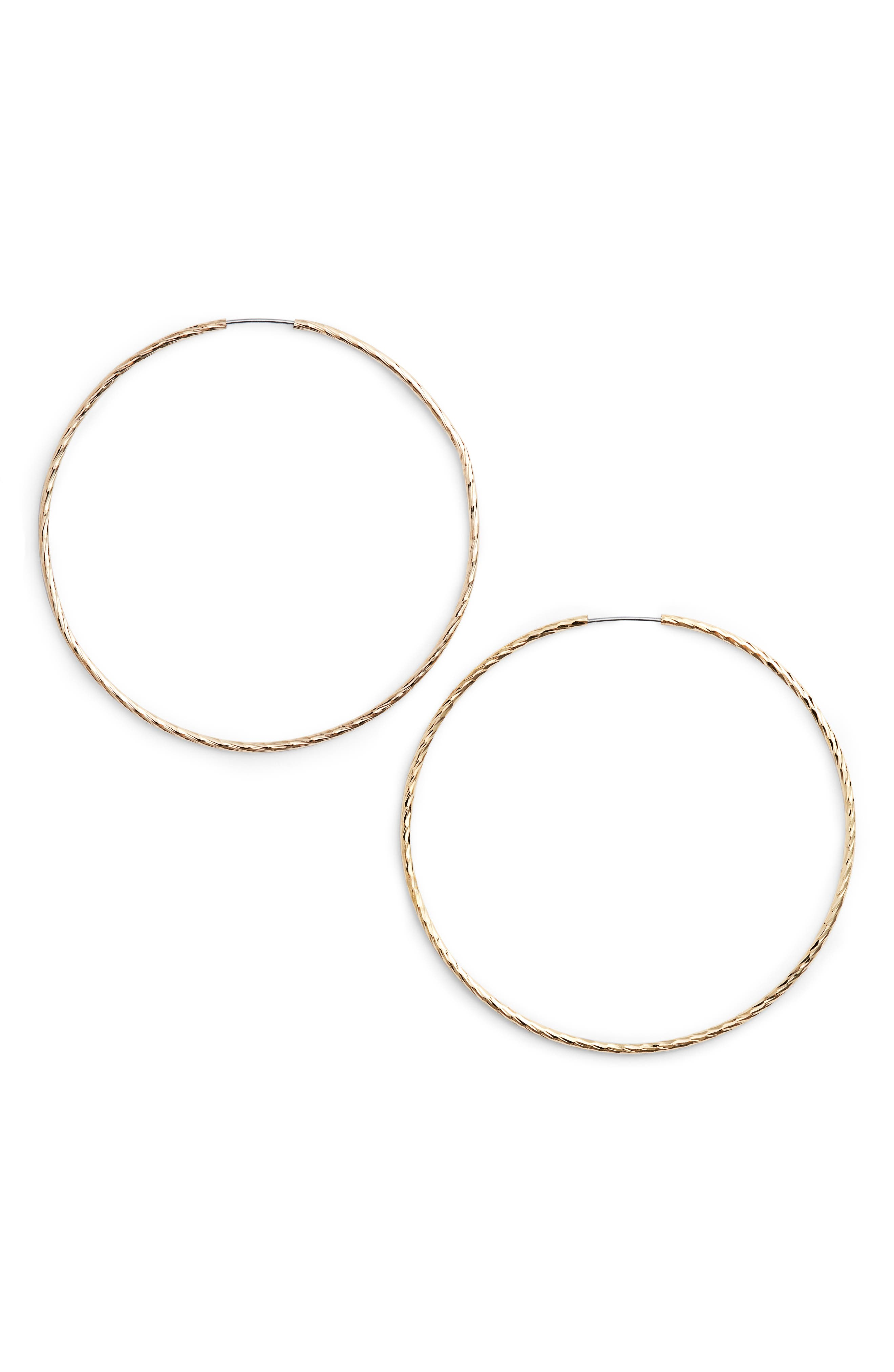 Main Image - Jules Smith Factor Hoop Earrings