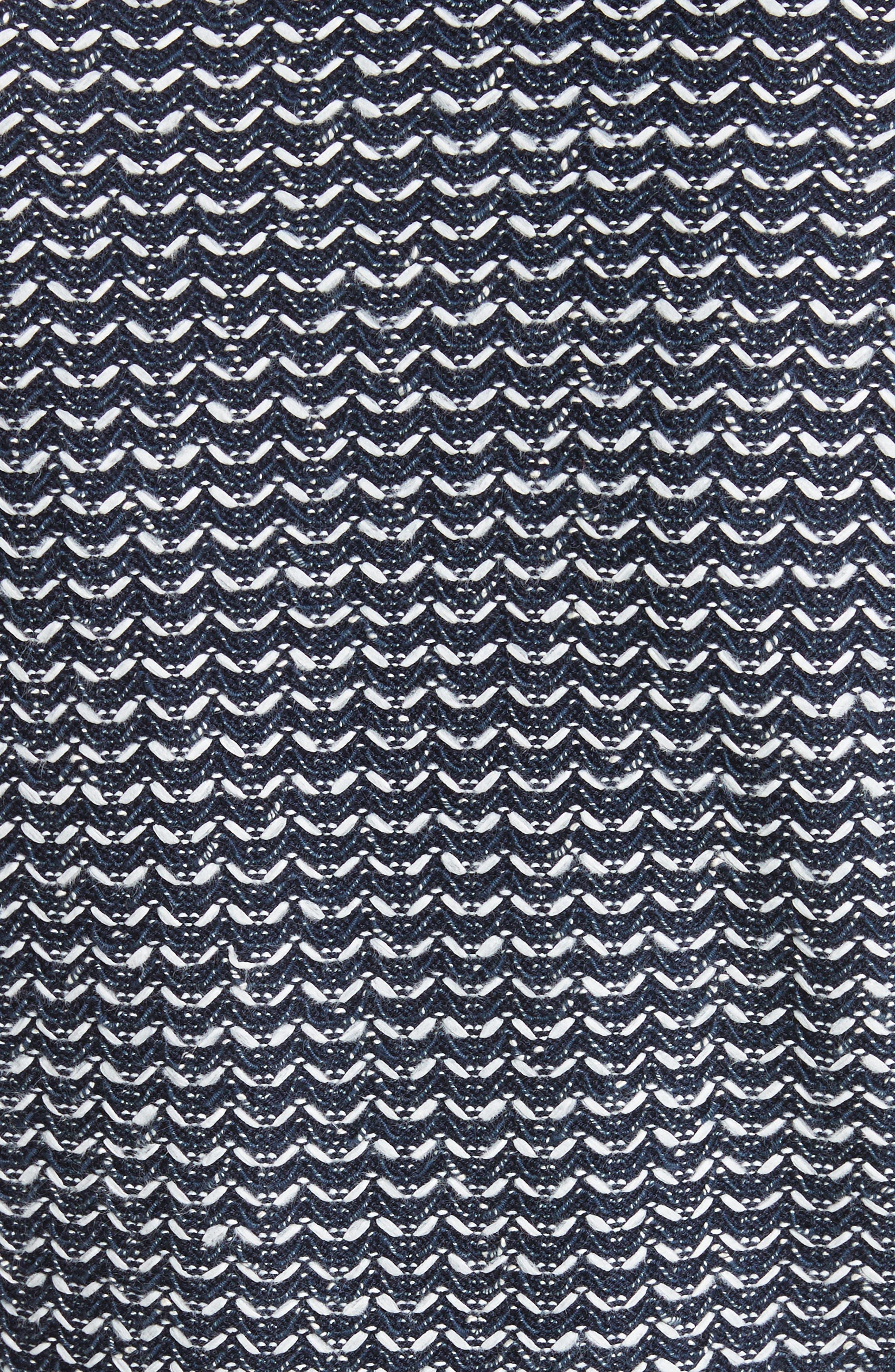 Chevron Knit Jacket,                             Alternate thumbnail 5, color,                             Navy Multi