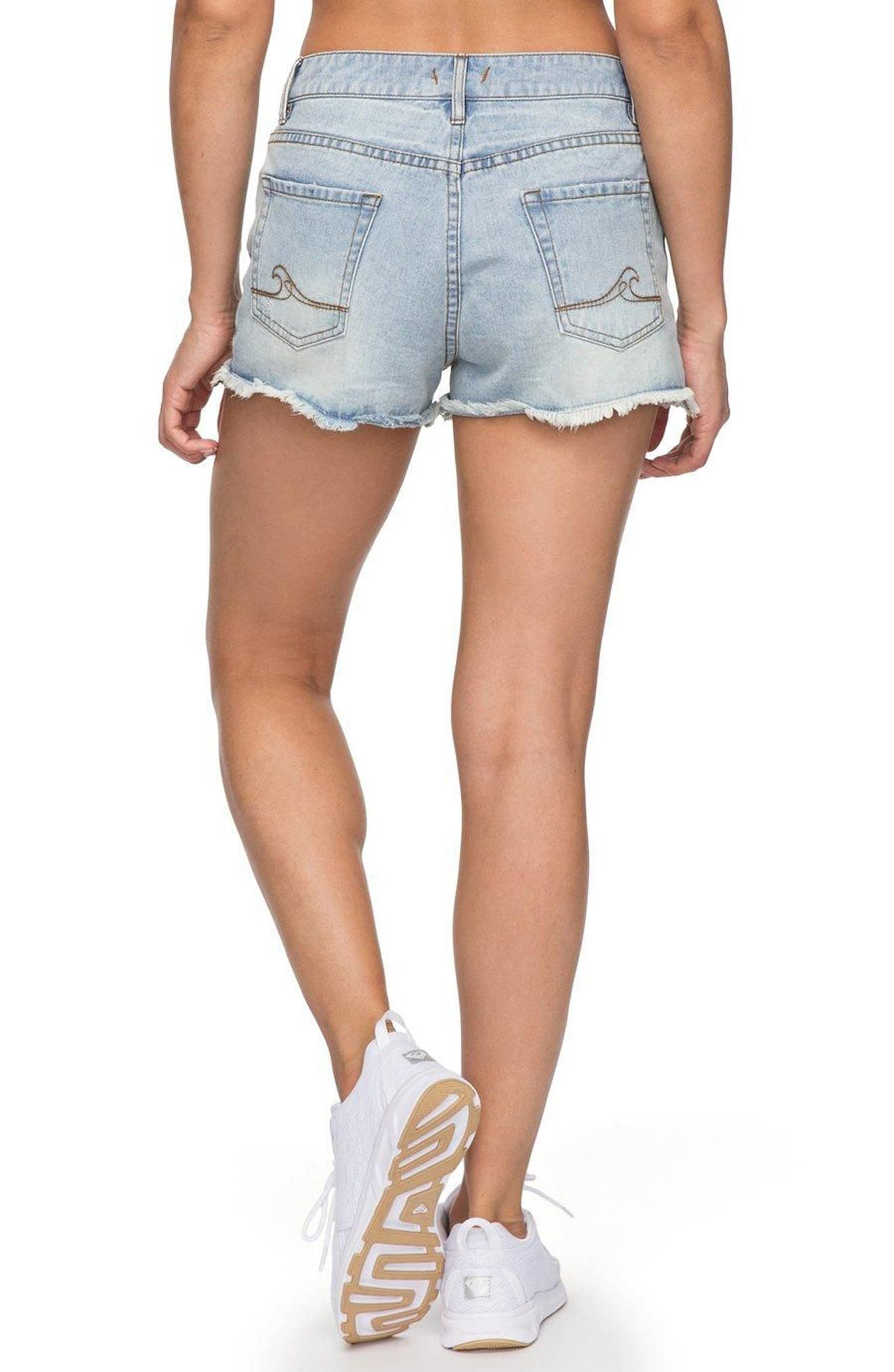 Alternate Image 3  - Roxy Little Abaco Cutoff Denim Shorts