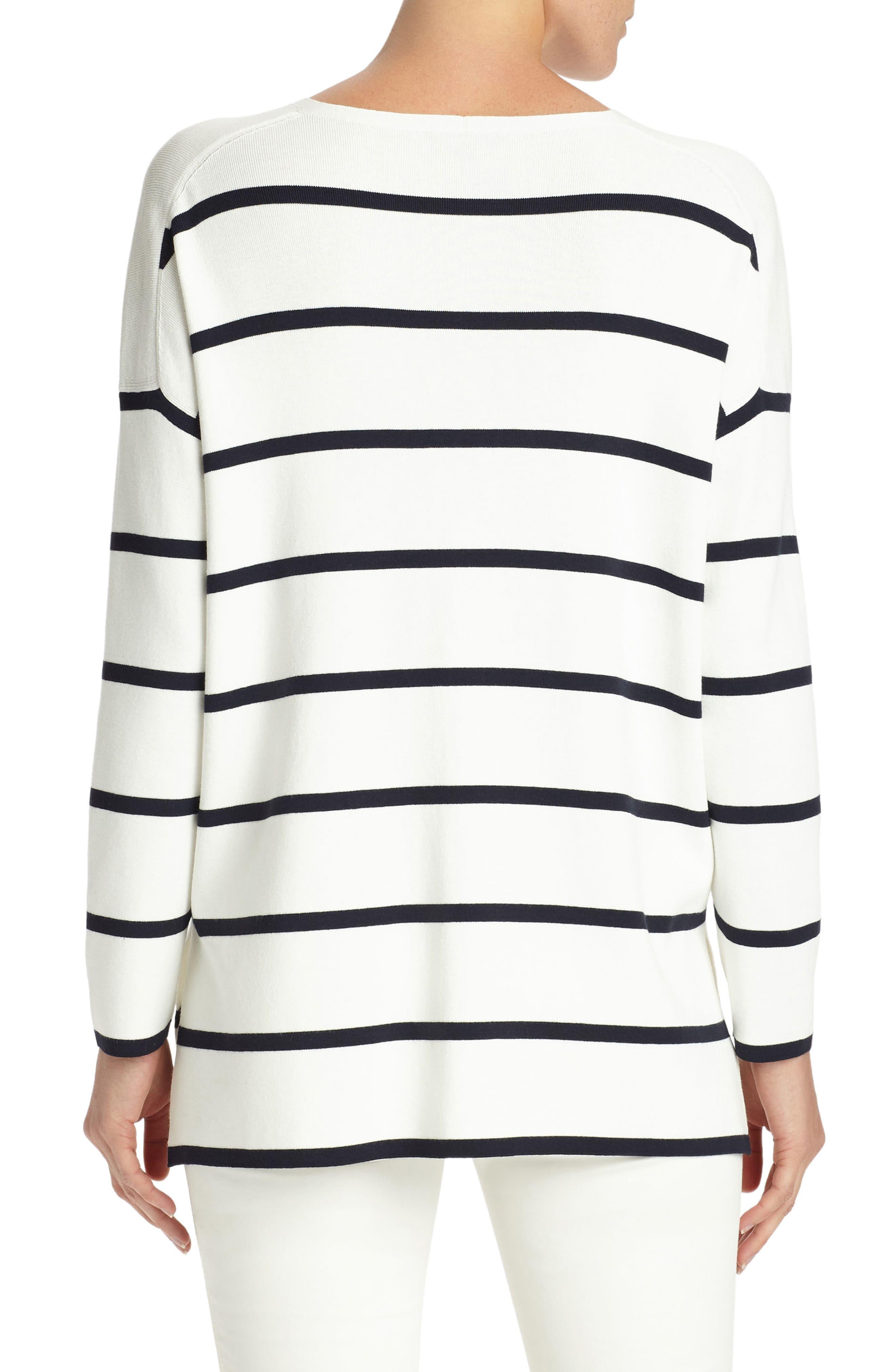 Alternate Image 2  - Lafayette 148 New York Stripe Sweater