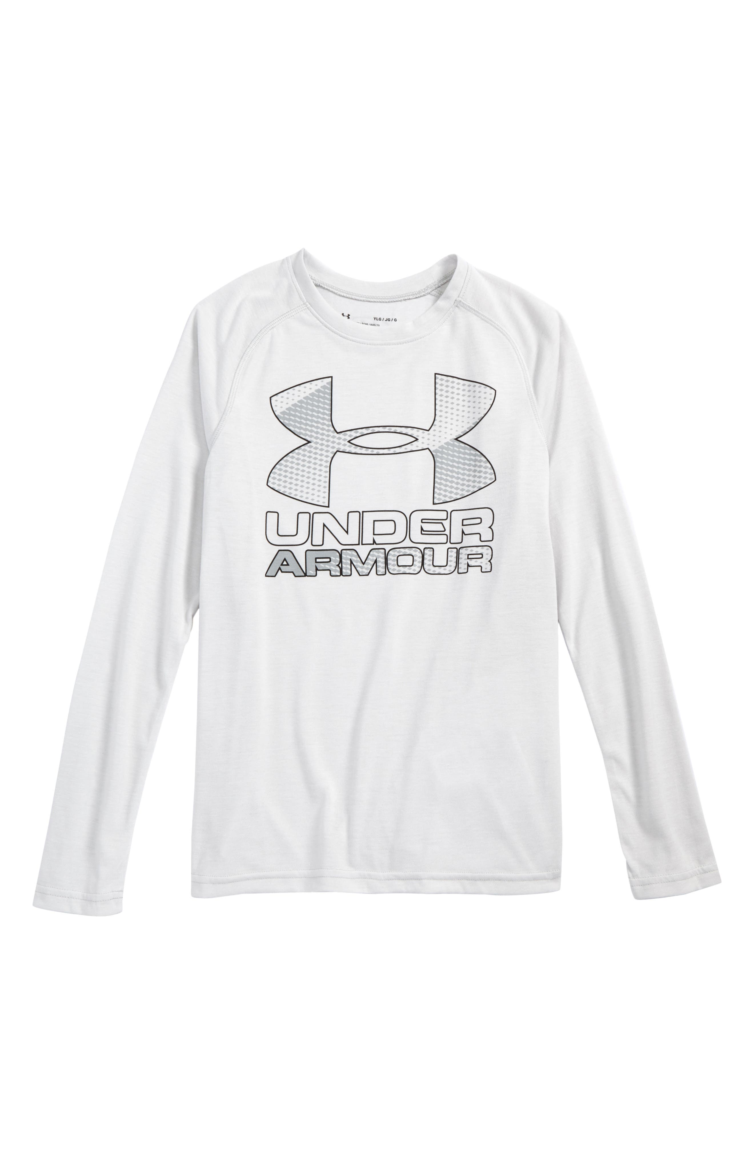 Alternate Image 1 Selected - Under Armour Logo Graphic HeatGear® T-Shirt (Little Boys & Big Boys)