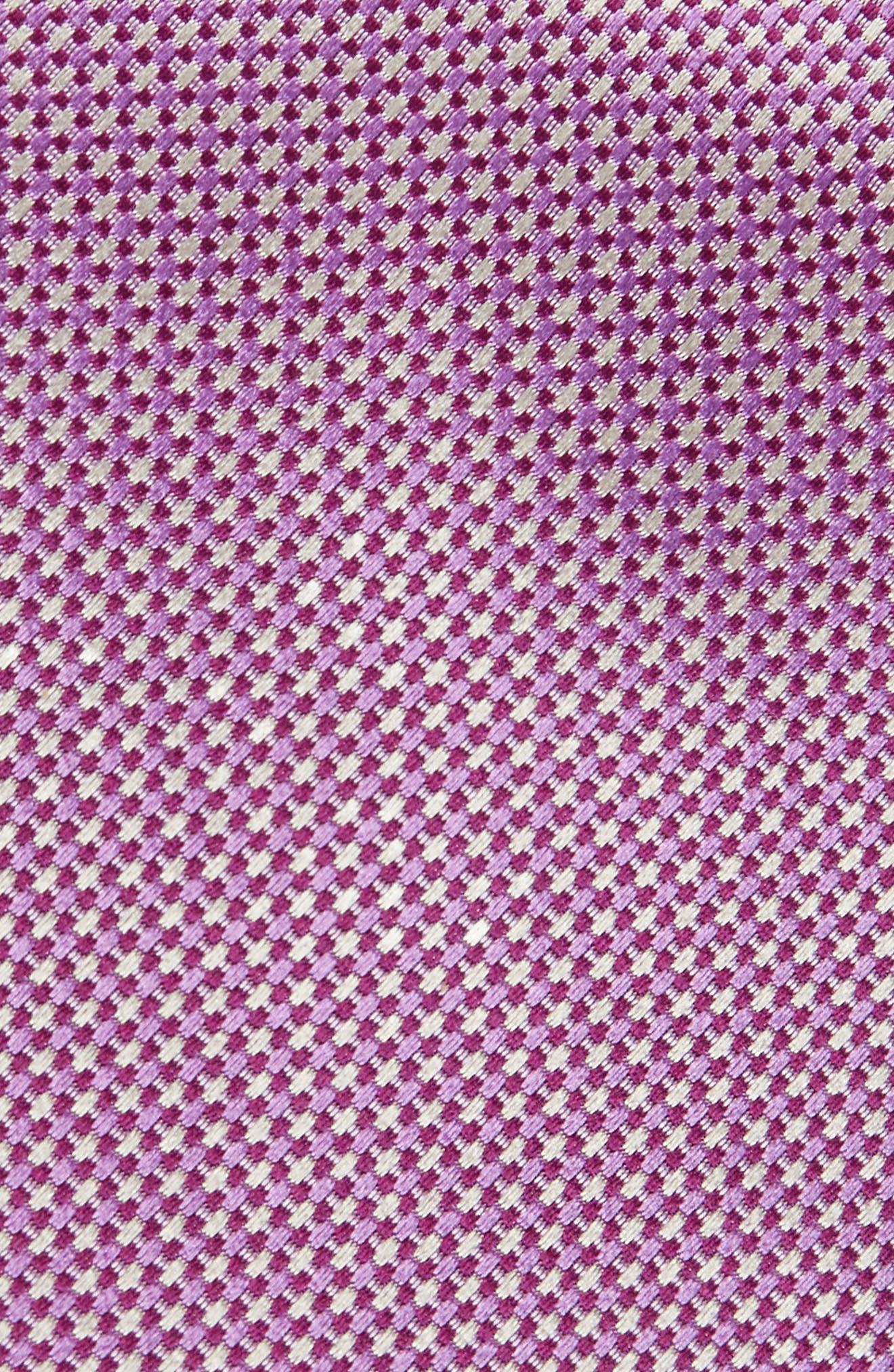 Geometric Silk Tie,                             Alternate thumbnail 2, color,                             Berry