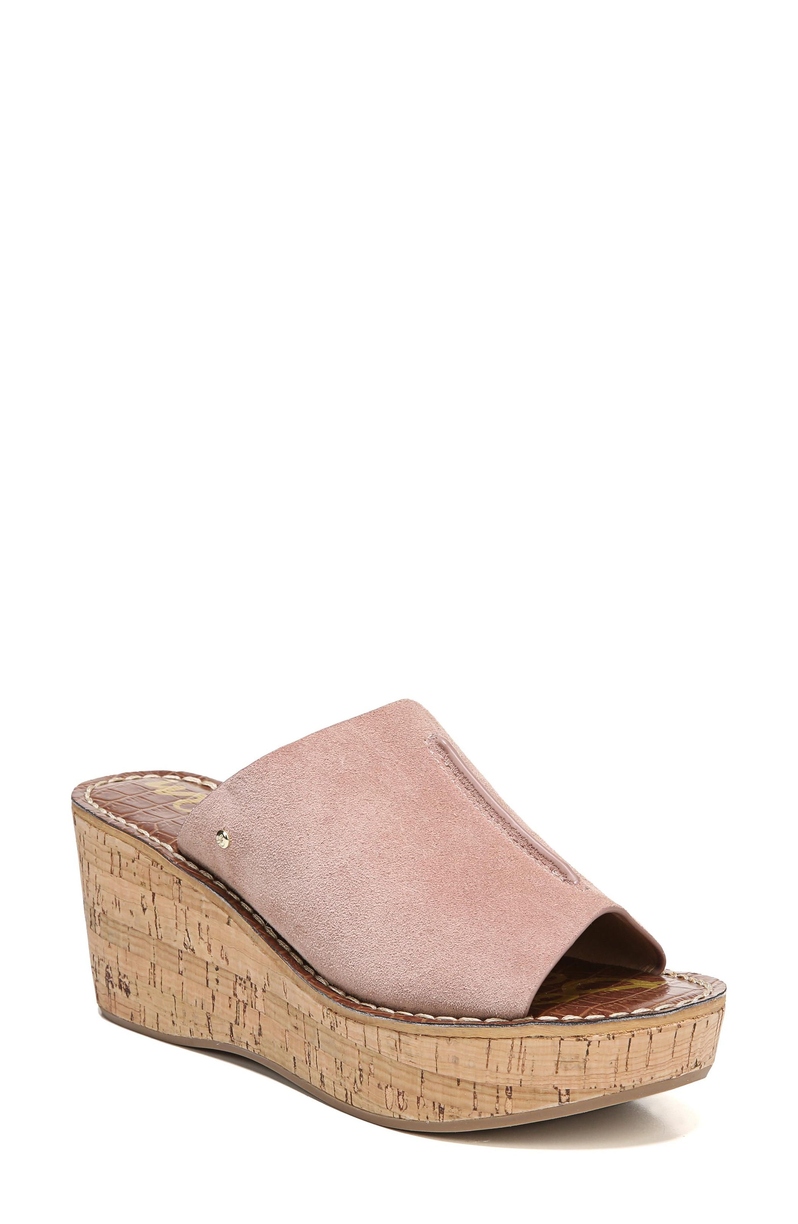 Ranger Platform Sandal,                             Main thumbnail 1, color,                             Dusty Rose Suede