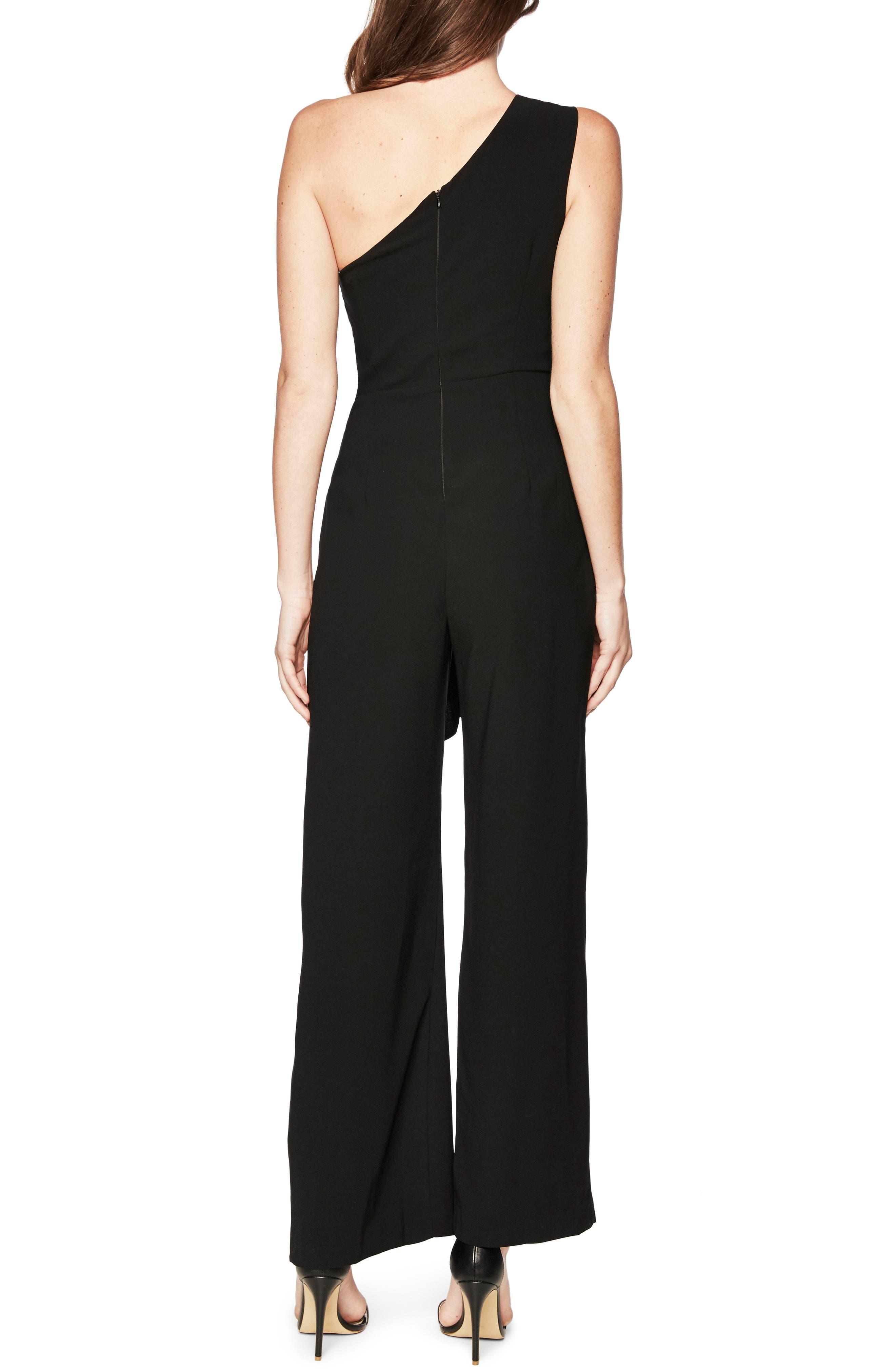 Bellini One-Shoulder Jumpsuit,                             Alternate thumbnail 2, color,                             Black