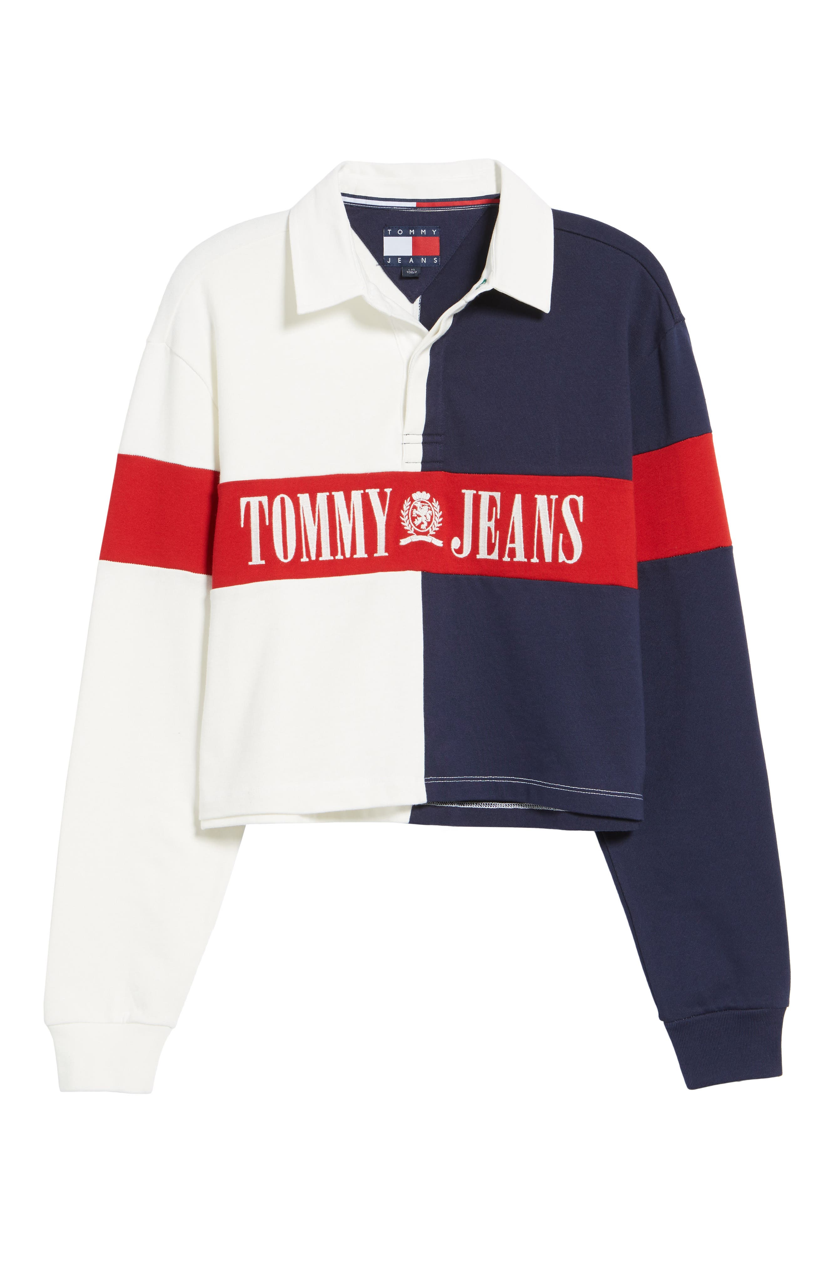 Alternate Image 6  - TOMMY JEANS '90s Crop Rugby Top
