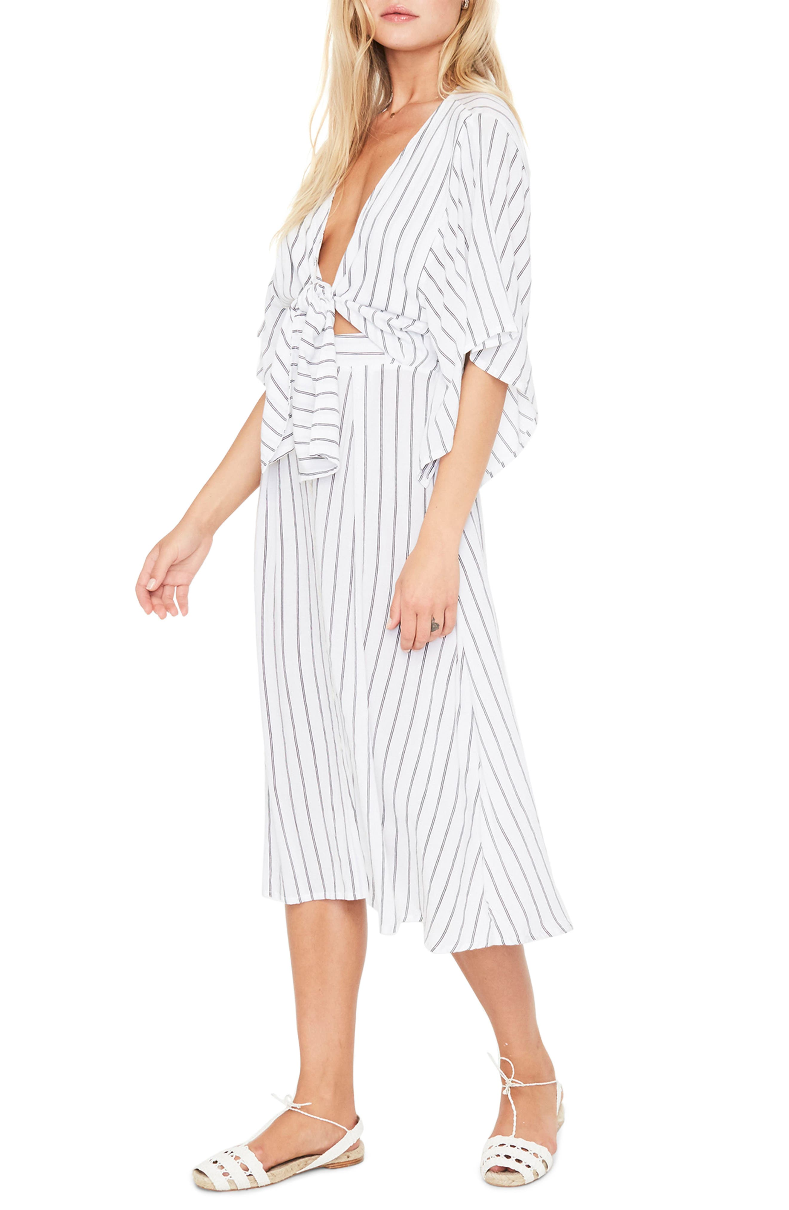 Alternate Image 4  - FAITHFULL THE BRAND Massimo Stripe Midi Dress
