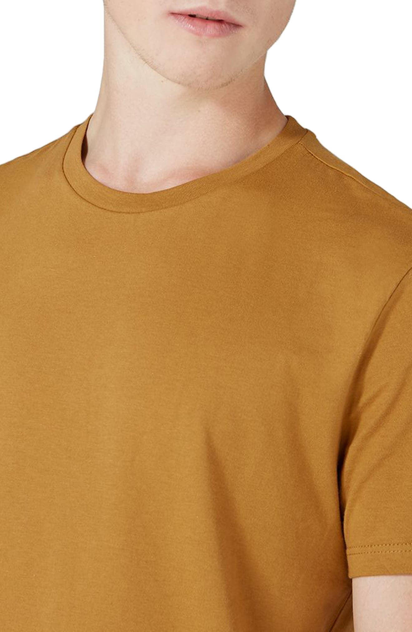 Slim Fit Crewneck T-Shirt,                             Alternate thumbnail 3, color,                             Mustard