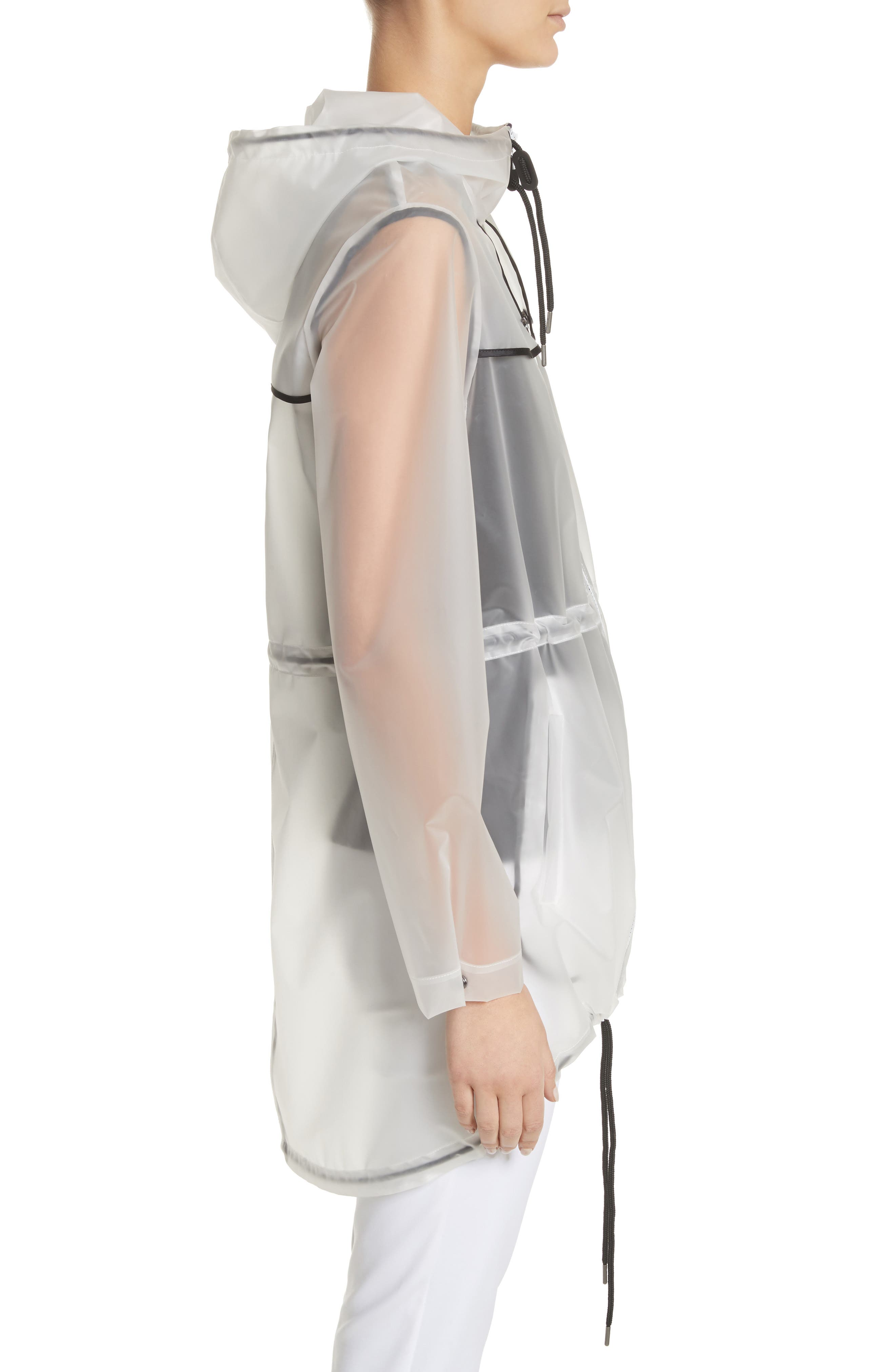Alternate Image 3  - St. John Collection Clear Hooded Raincoat