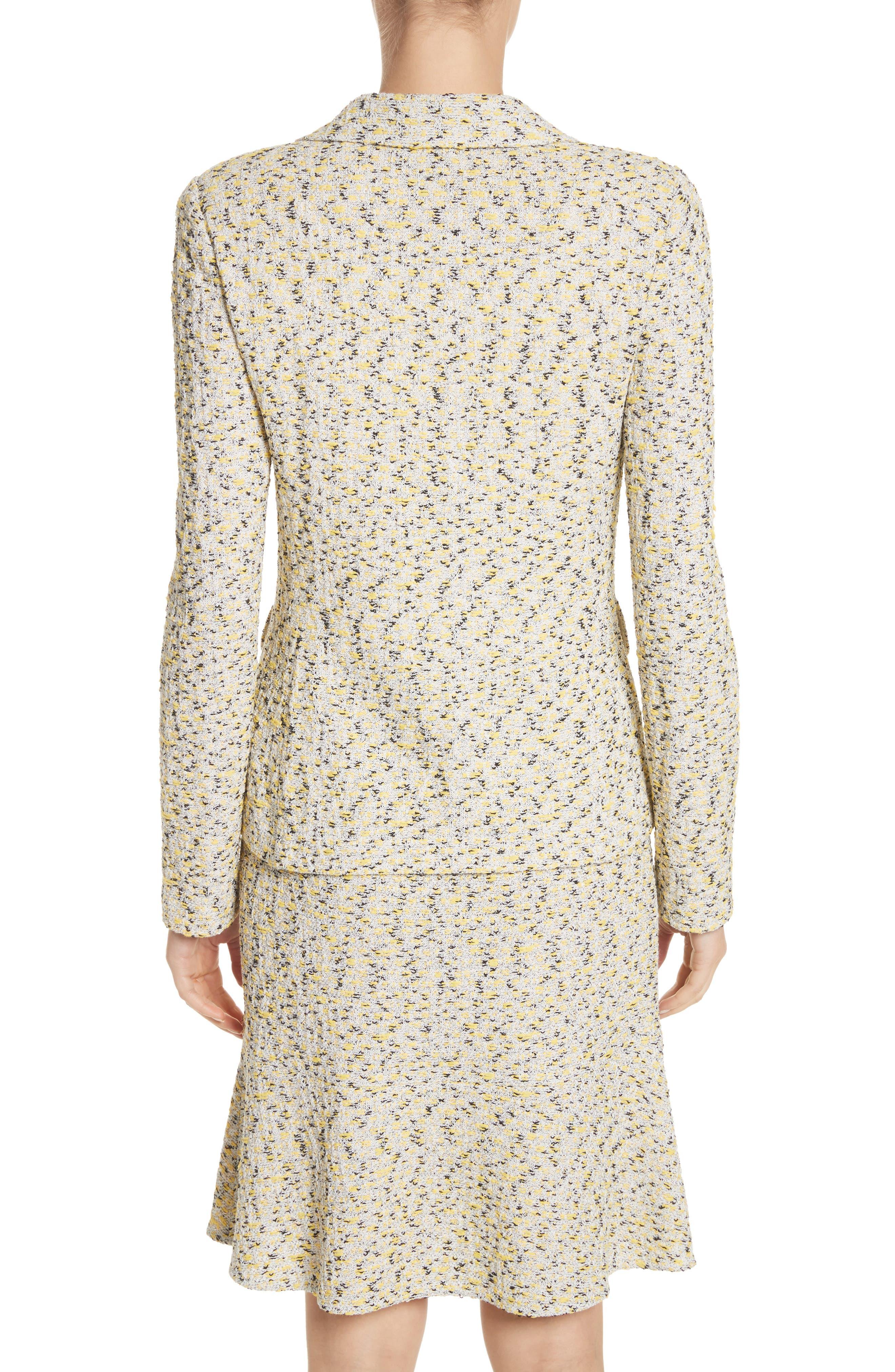 Romee Tweed Knit Blazer,                             Alternate thumbnail 2, color,                             Citron Multi