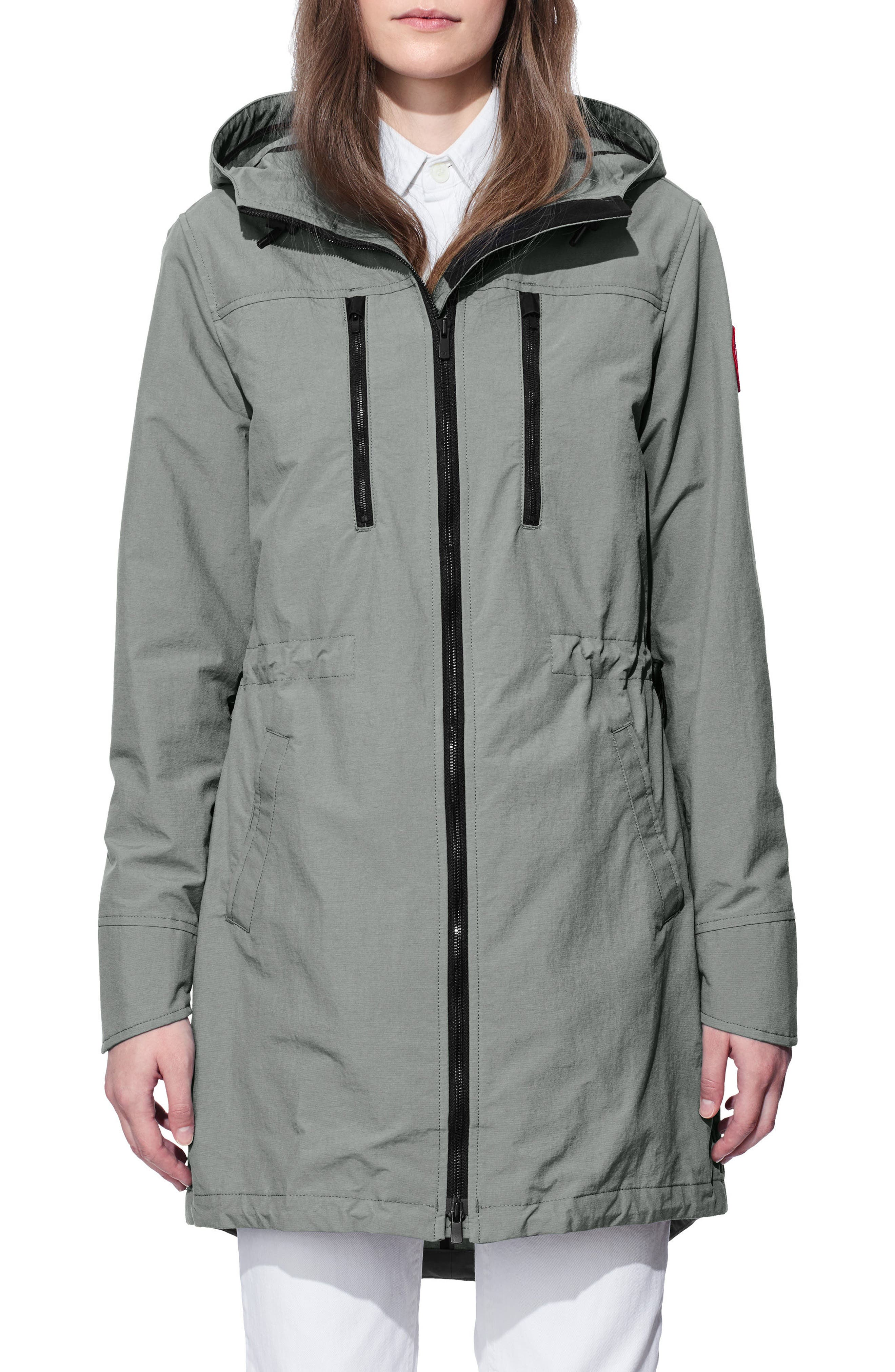 Brossard Hooded Drop Tail Jacket,                         Main,                         color, Permafrost