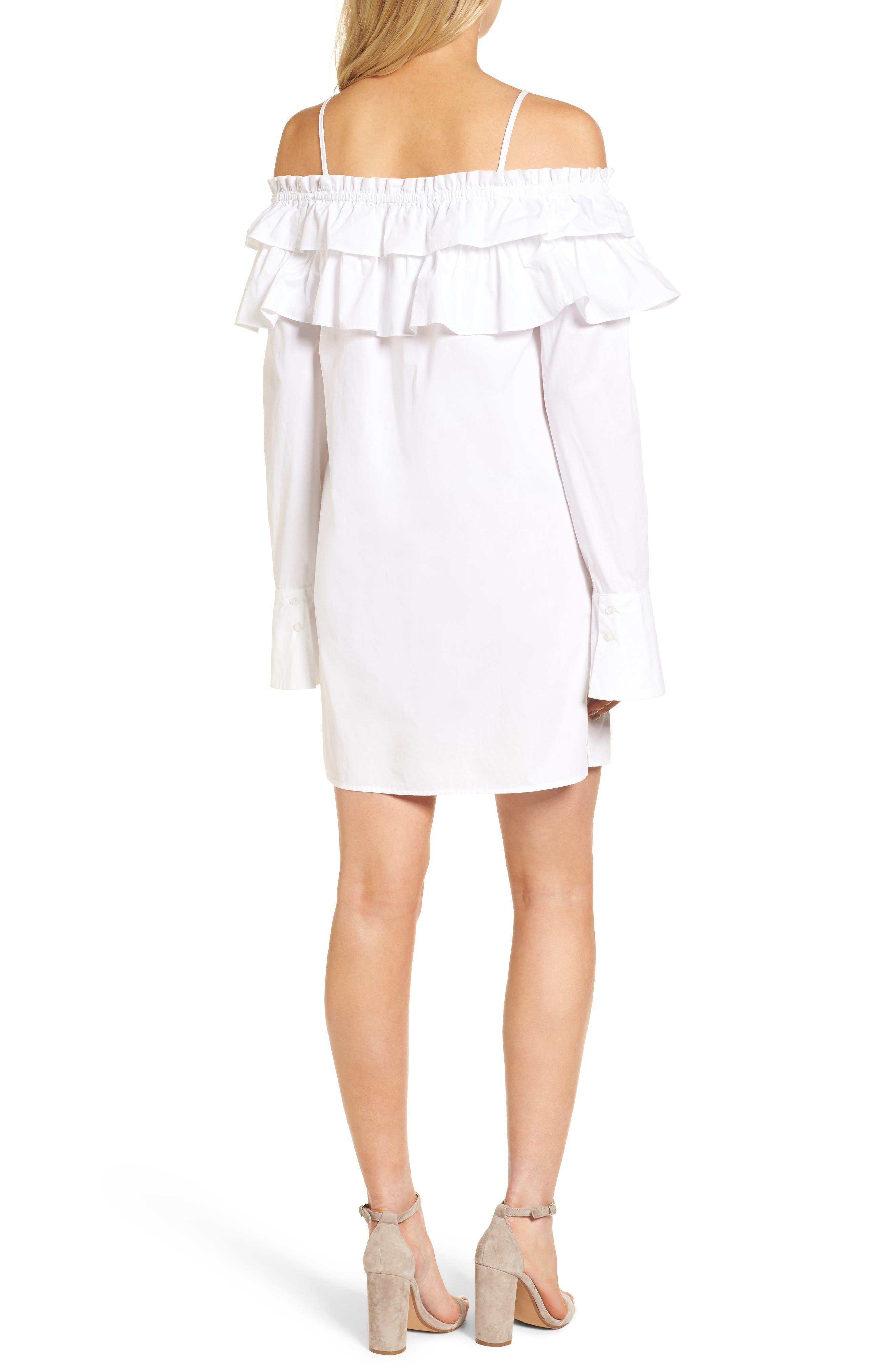 Pallas Off the Shoulder Dress,                             Alternate thumbnail 2, color,                             White