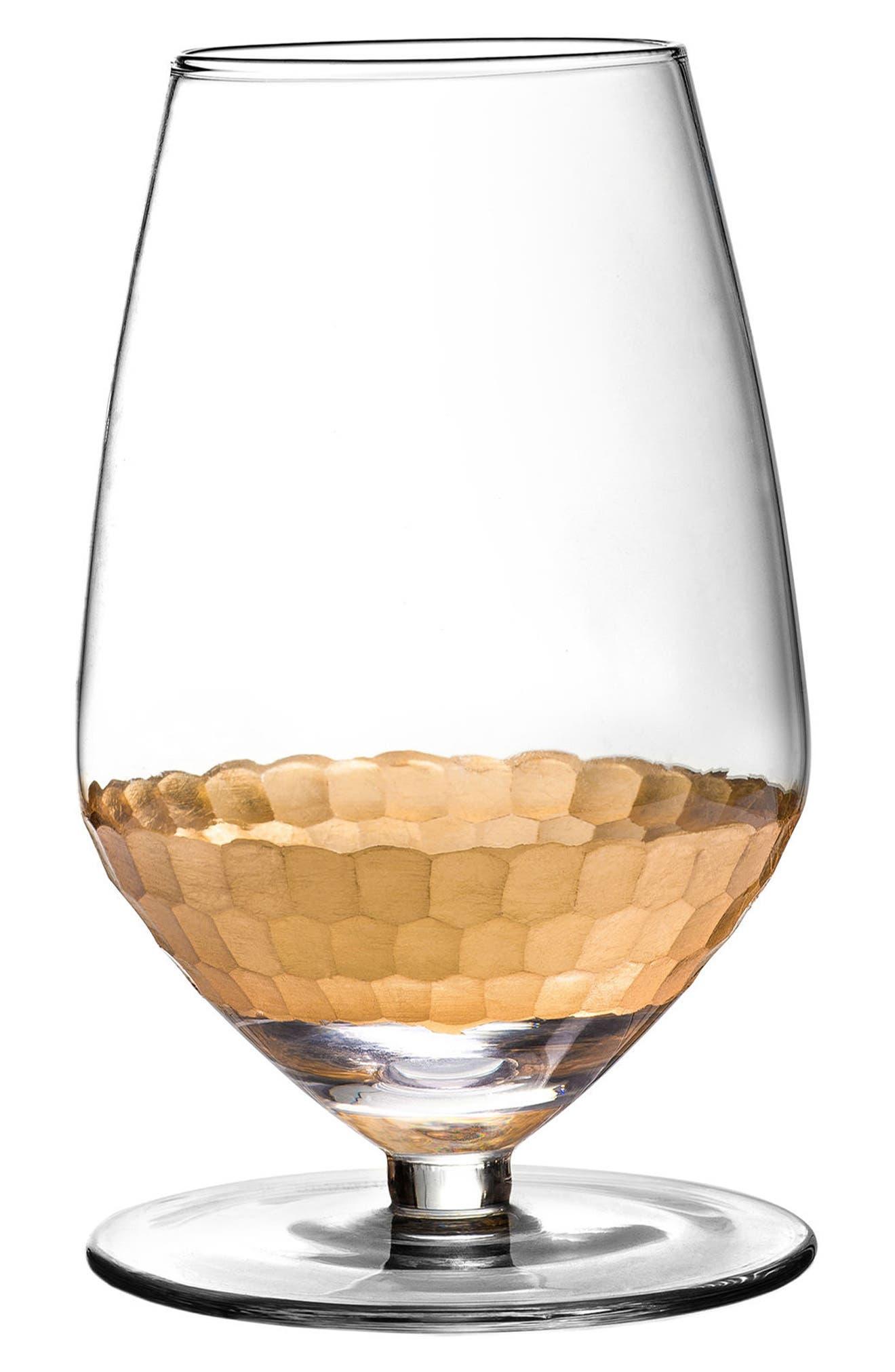 Daphne Set of 4 Sauvignon Blanc Glasses,                             Main thumbnail 1, color,                             Gold