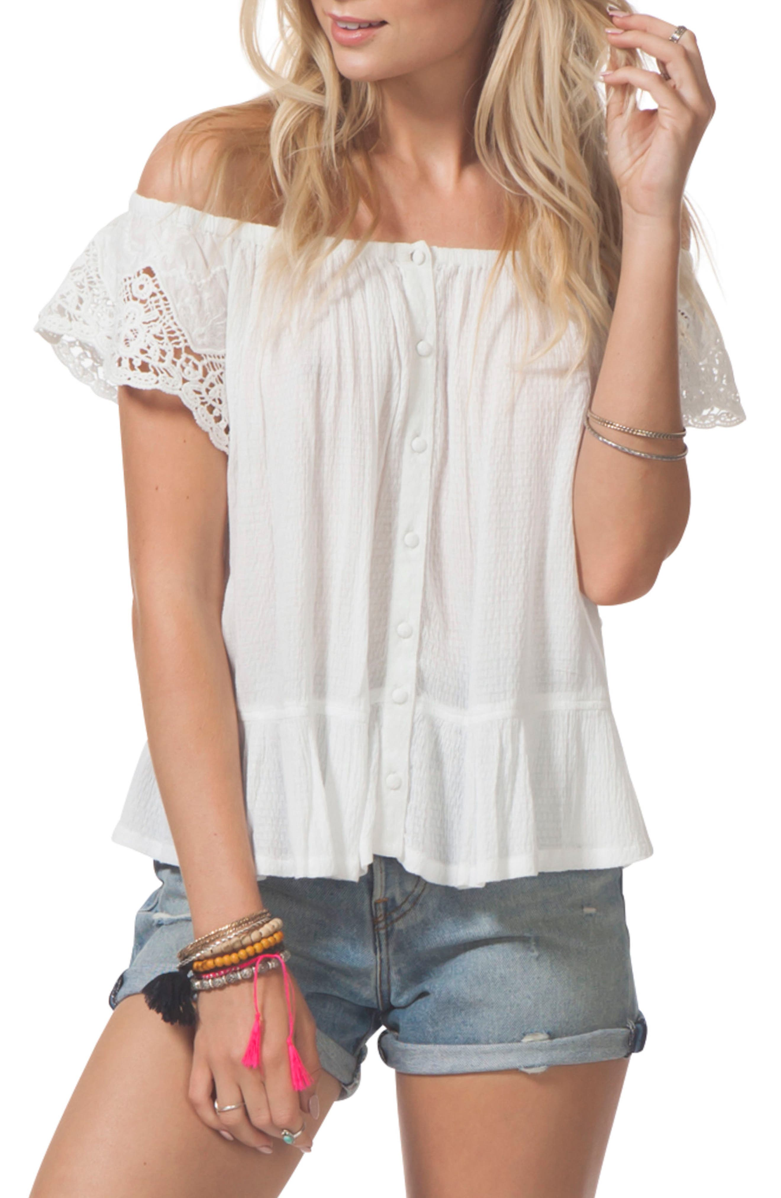 Main Image - Rip Curl Cascade Off the Shoulder Top