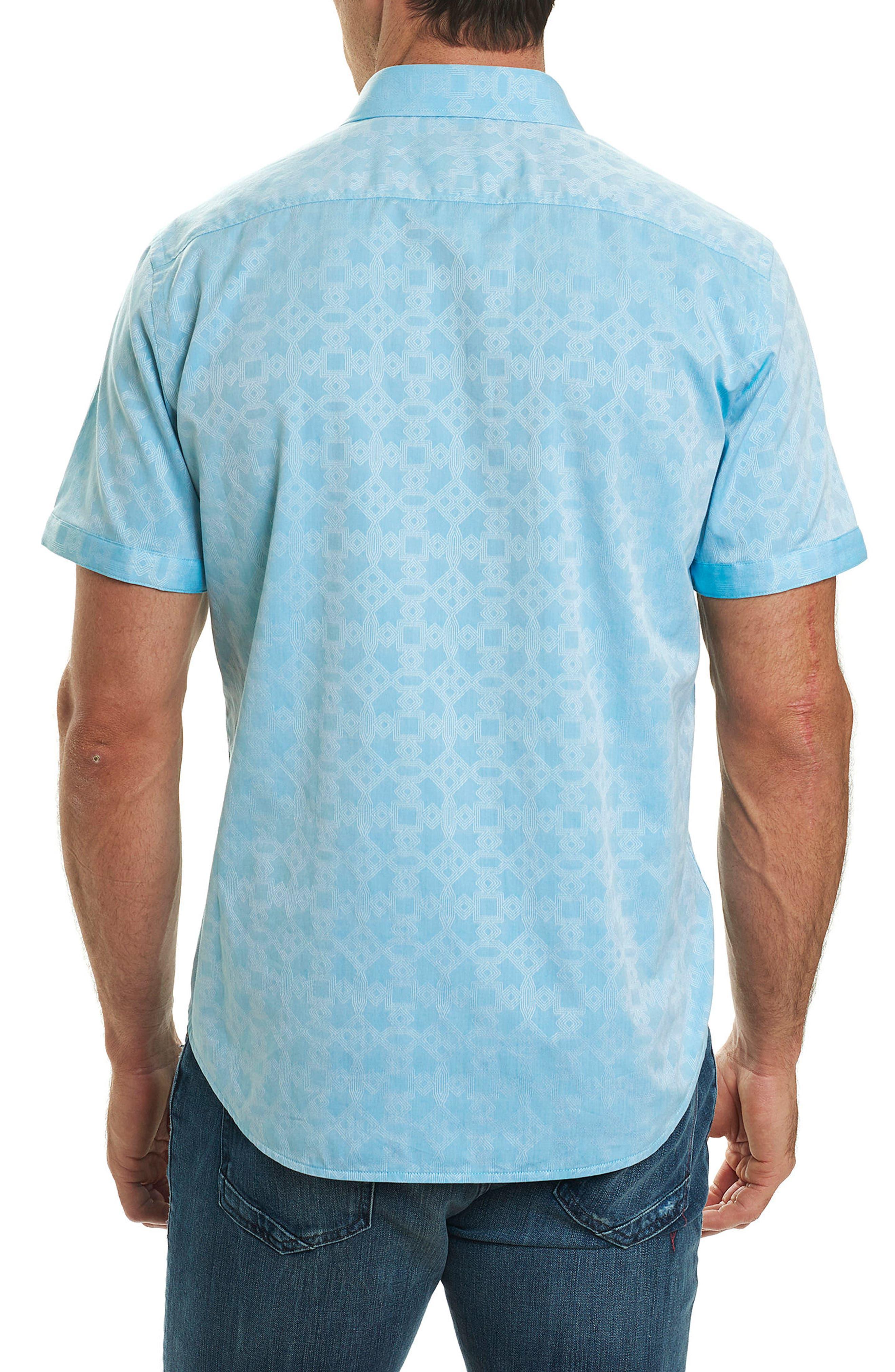 Maya Bay Classic Fit Jacquard Sport Shirt,                             Alternate thumbnail 2, color,                             Turquoise