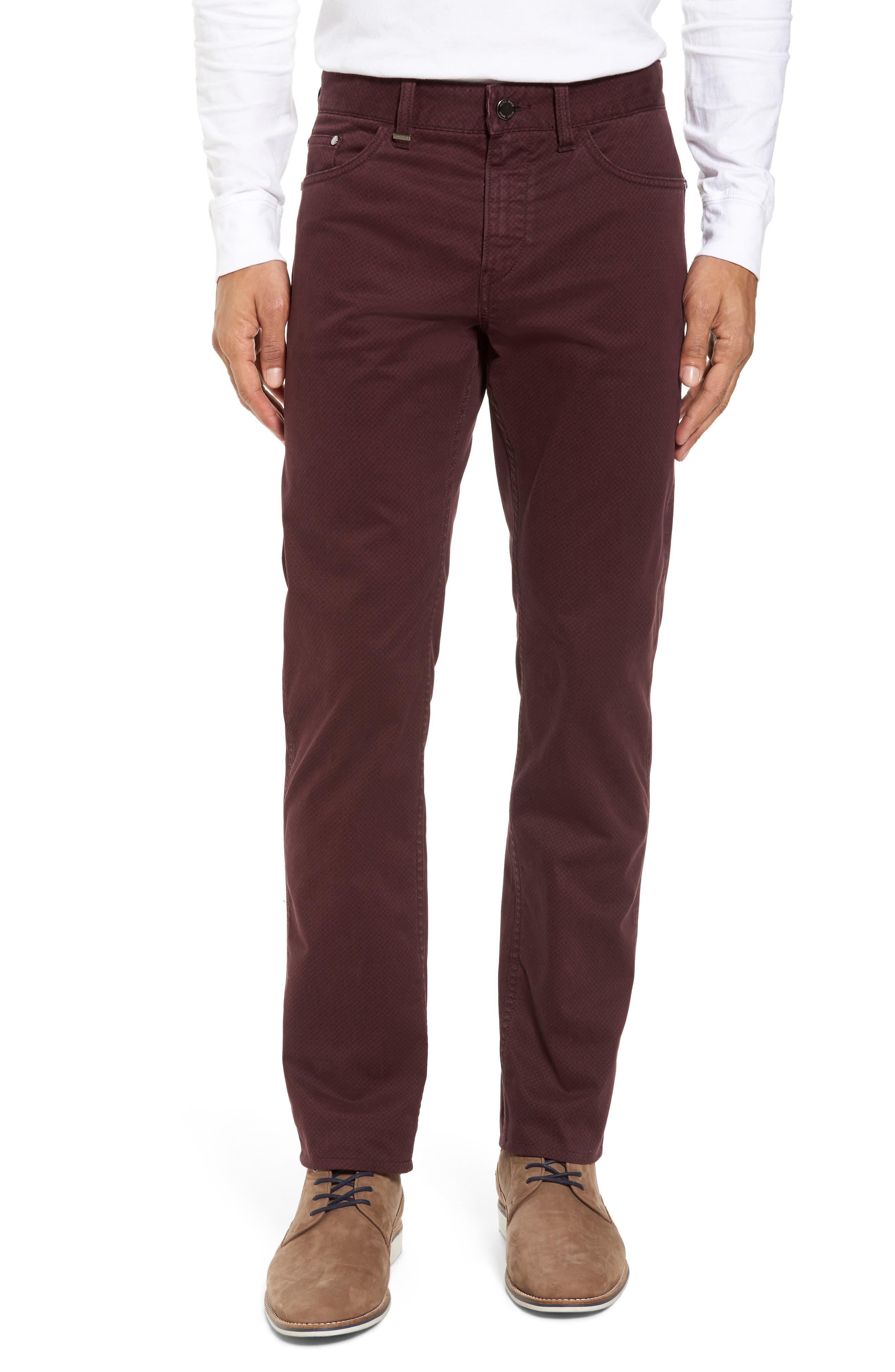 Delaware Slim Fit Pants,                         Main,                         color, Red
