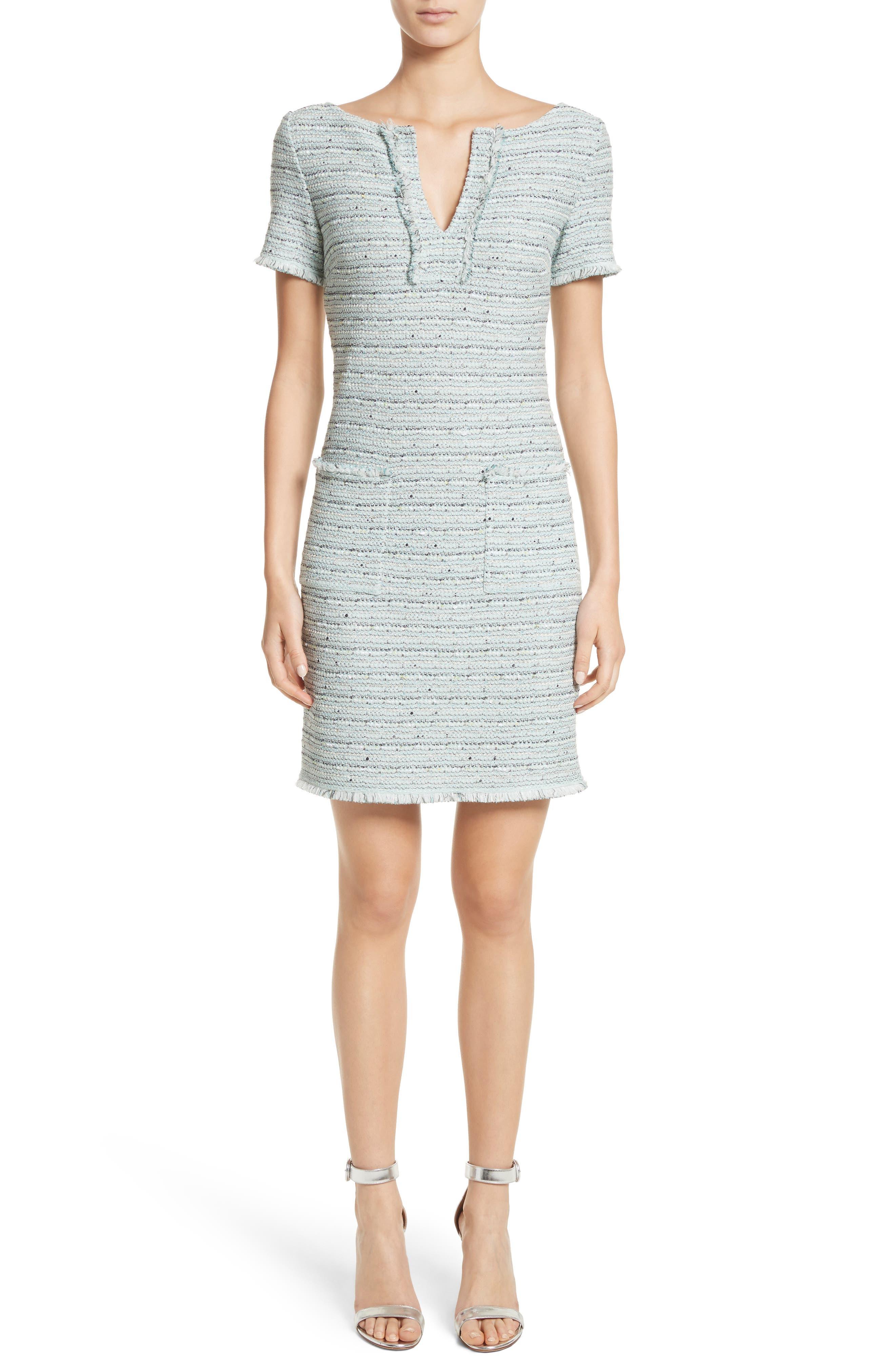 Main Image - St. John Collection Riana Tweed Sheath Dress
