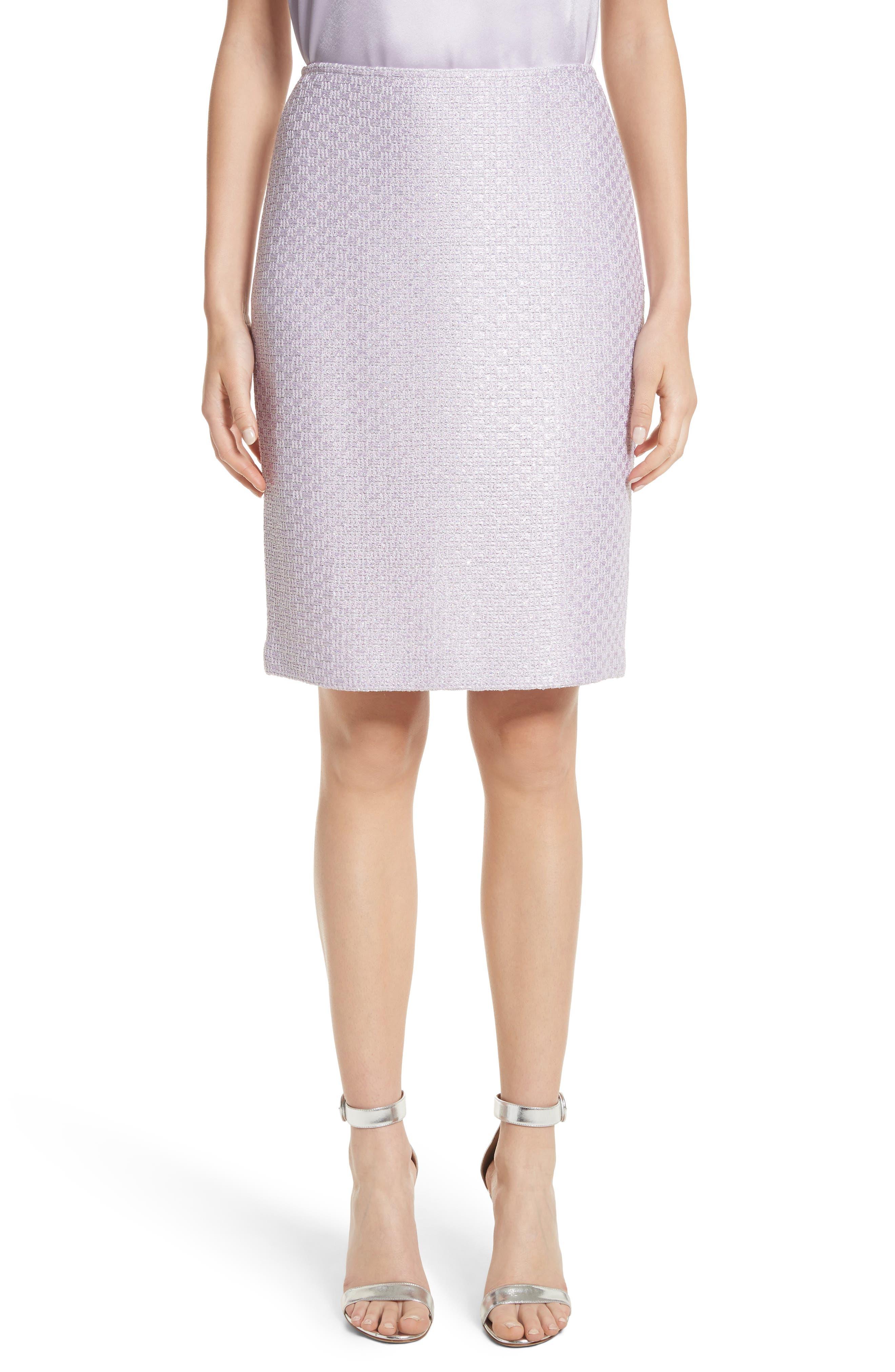 Hansh Sequin Knit Pencil Skirt,                             Main thumbnail 1, color,                             Lilac Multi