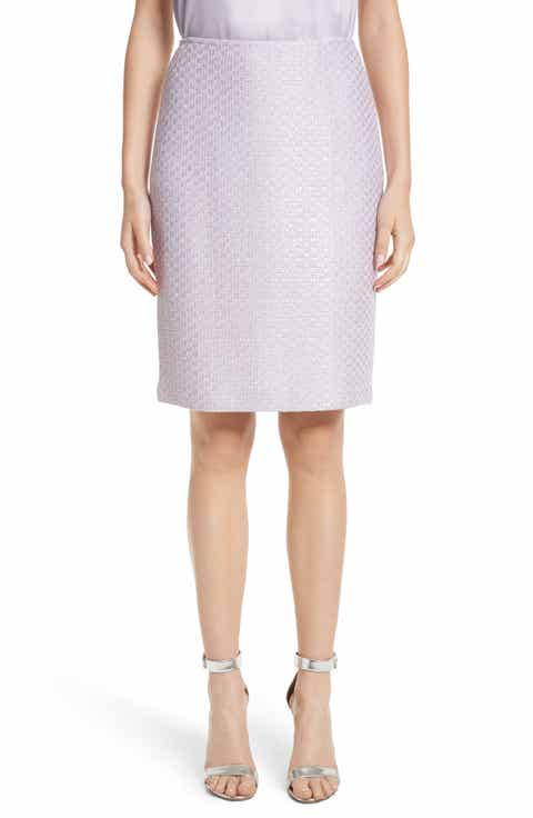 St. John Collection Hansh Sequin Knit Pencil Skirt Online Cheap
