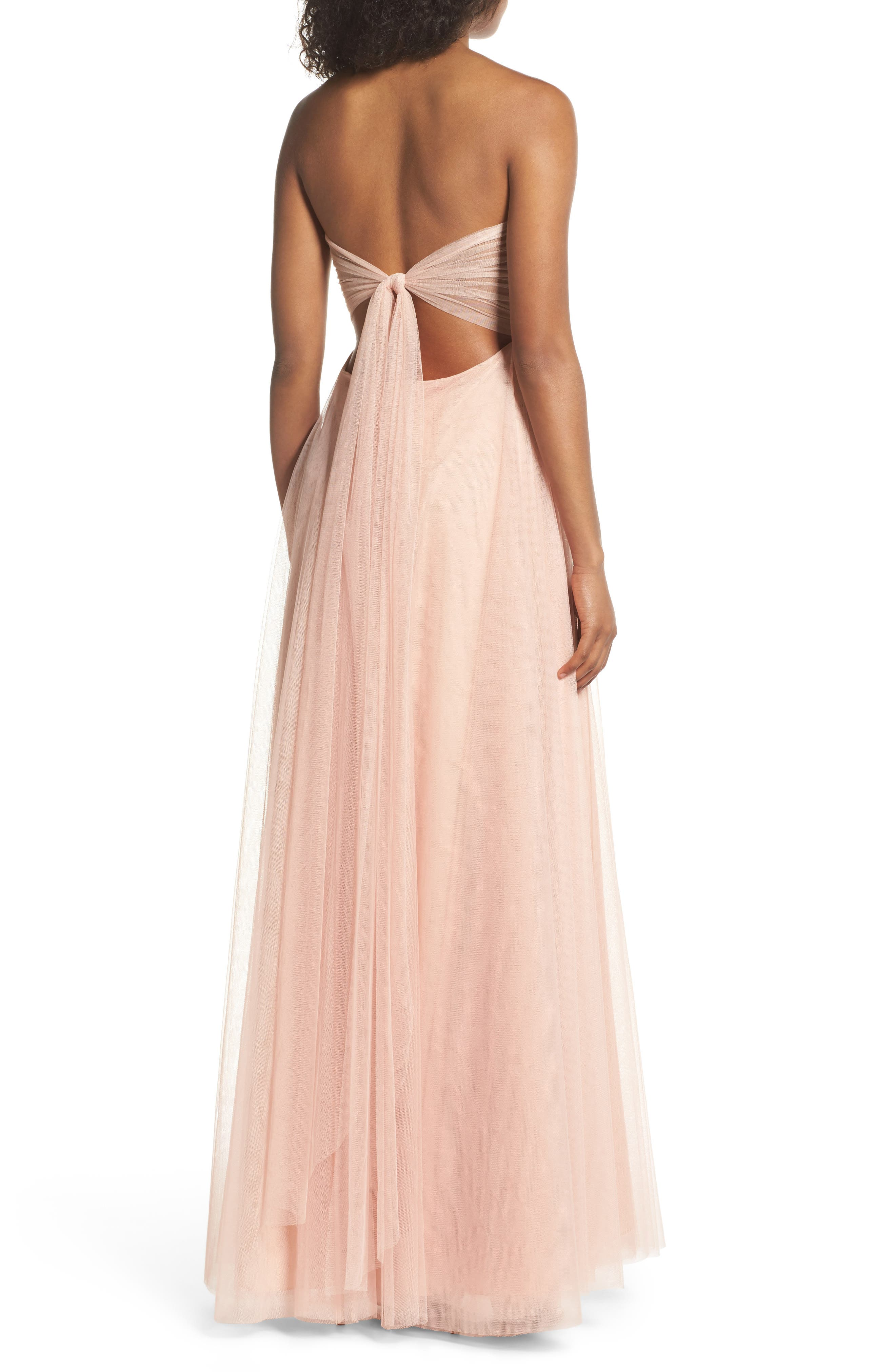 Alternate Image 2  - Jenny Yoo Julia Convertible Soft Tulle Gown