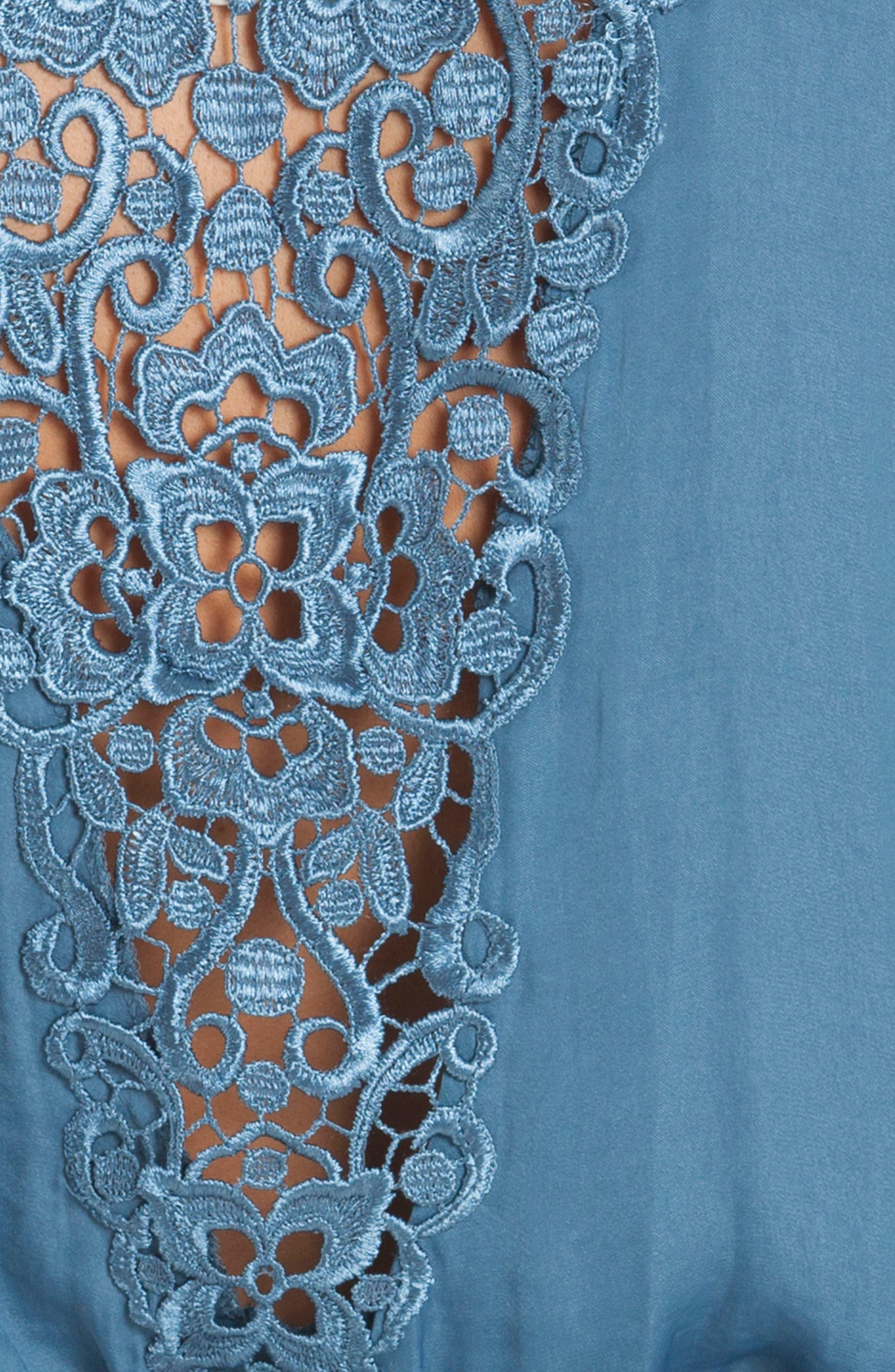 Byzantine Washed Satin Wrap,                             Alternate thumbnail 5, color,                             Blue Haze