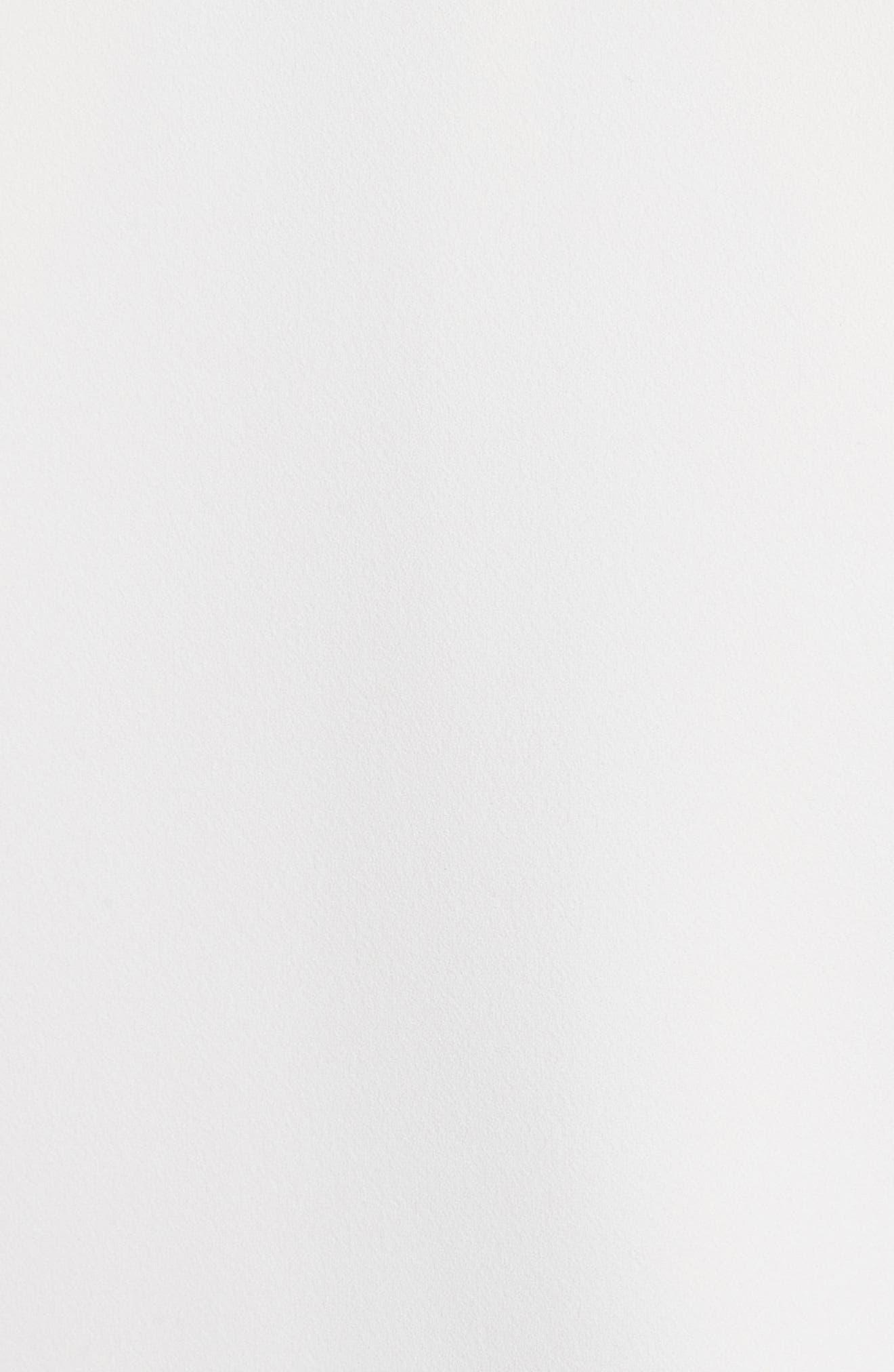 Crepe Ruffle Bomber Jacket,                             Alternate thumbnail 5, color,                             Ivory