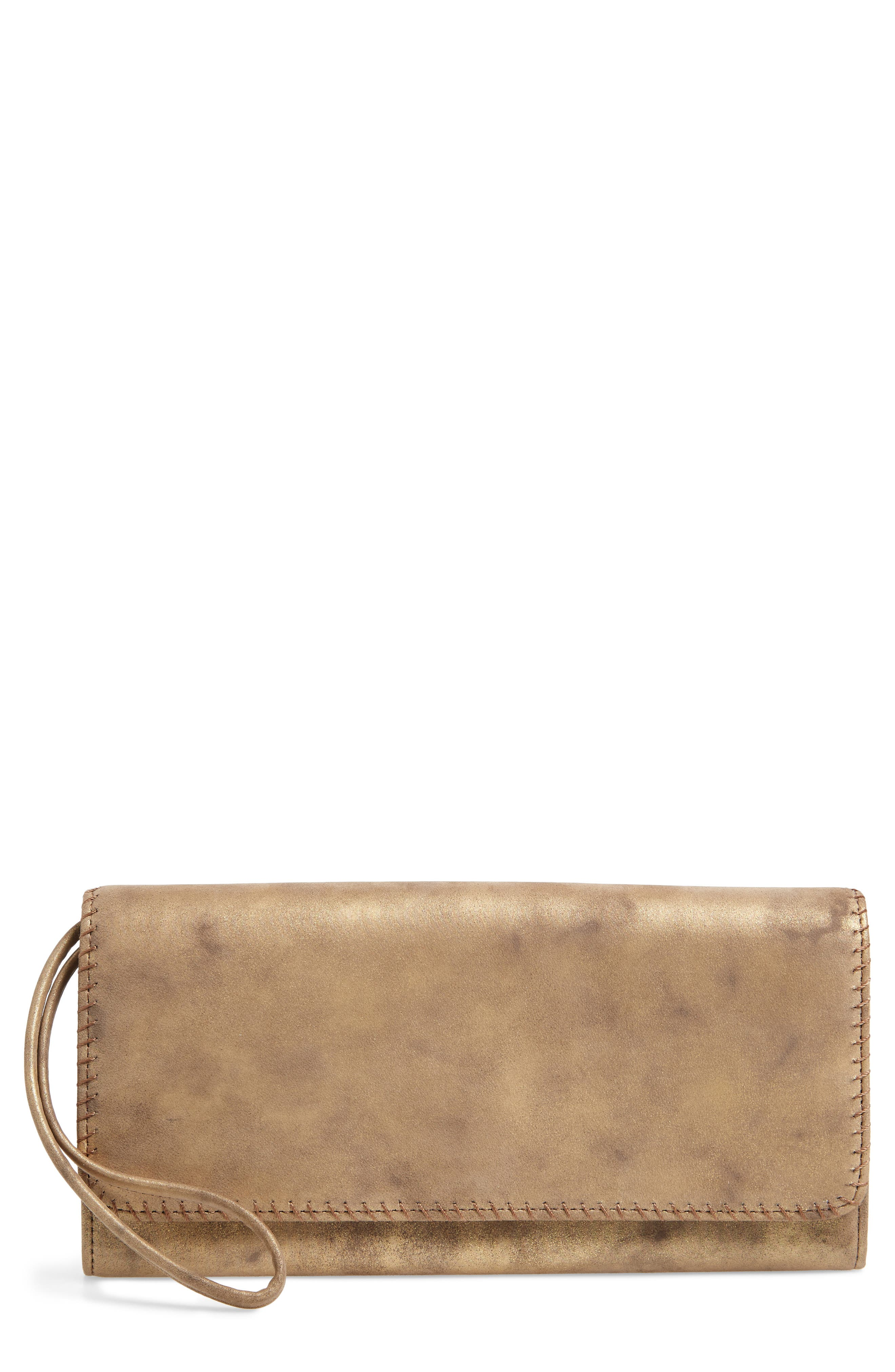Era Wristie Leather Wallet,                         Main,                         color, Stardust