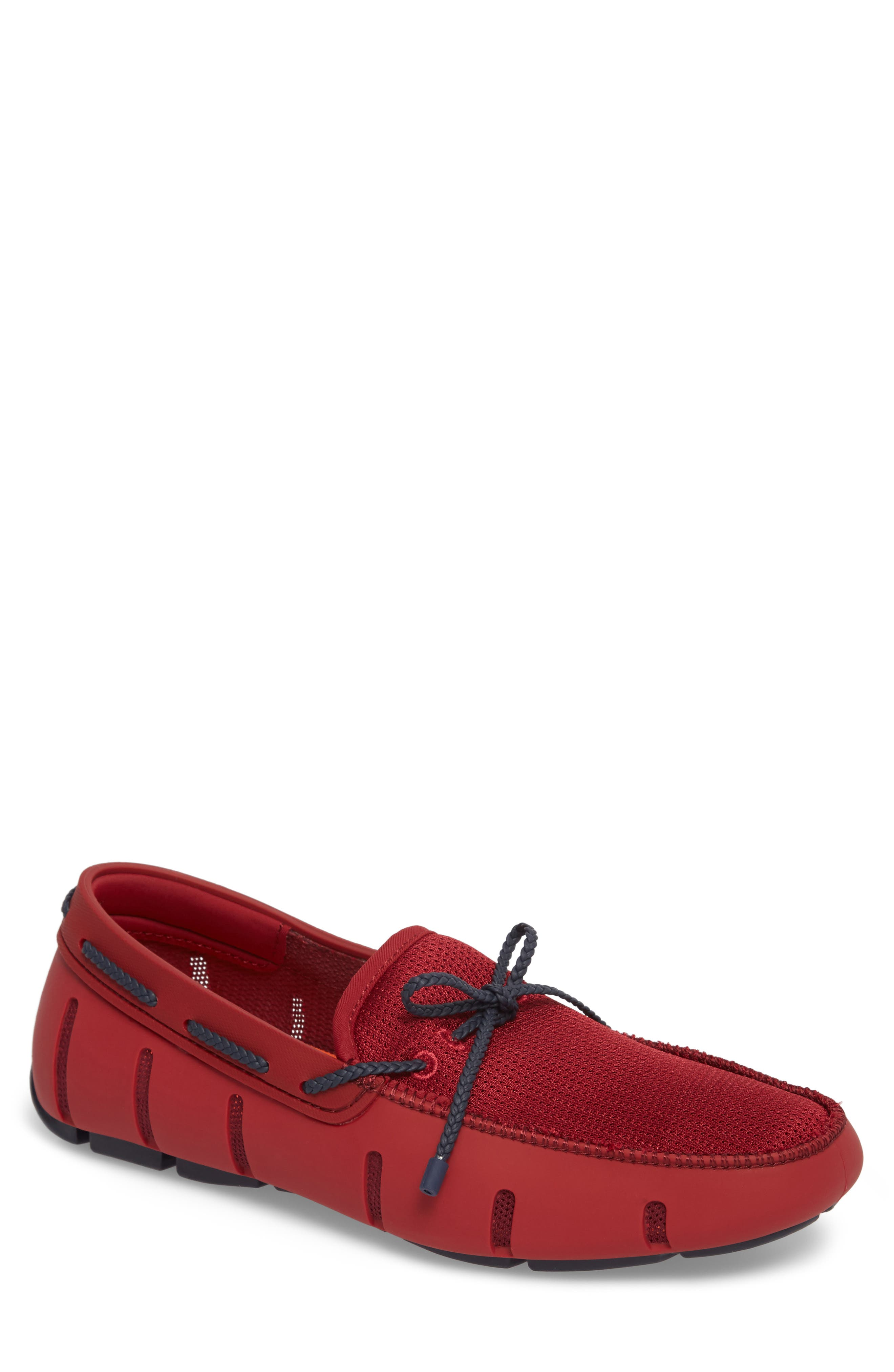 Loafer,                             Main thumbnail 1, color,                             Deep Red / Navy