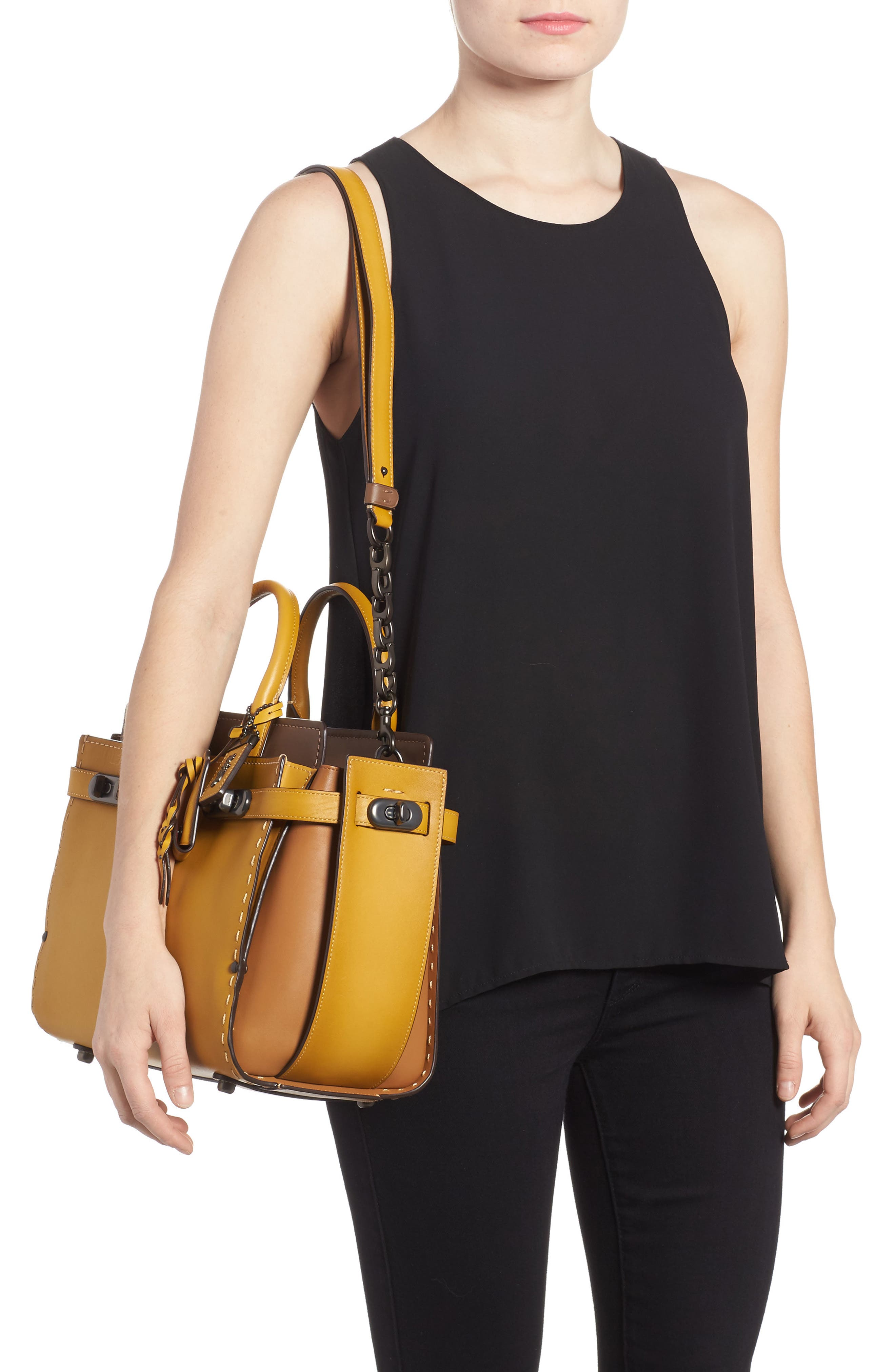 Alternate Image 2  - COACH Double Swagger Leather Satchel