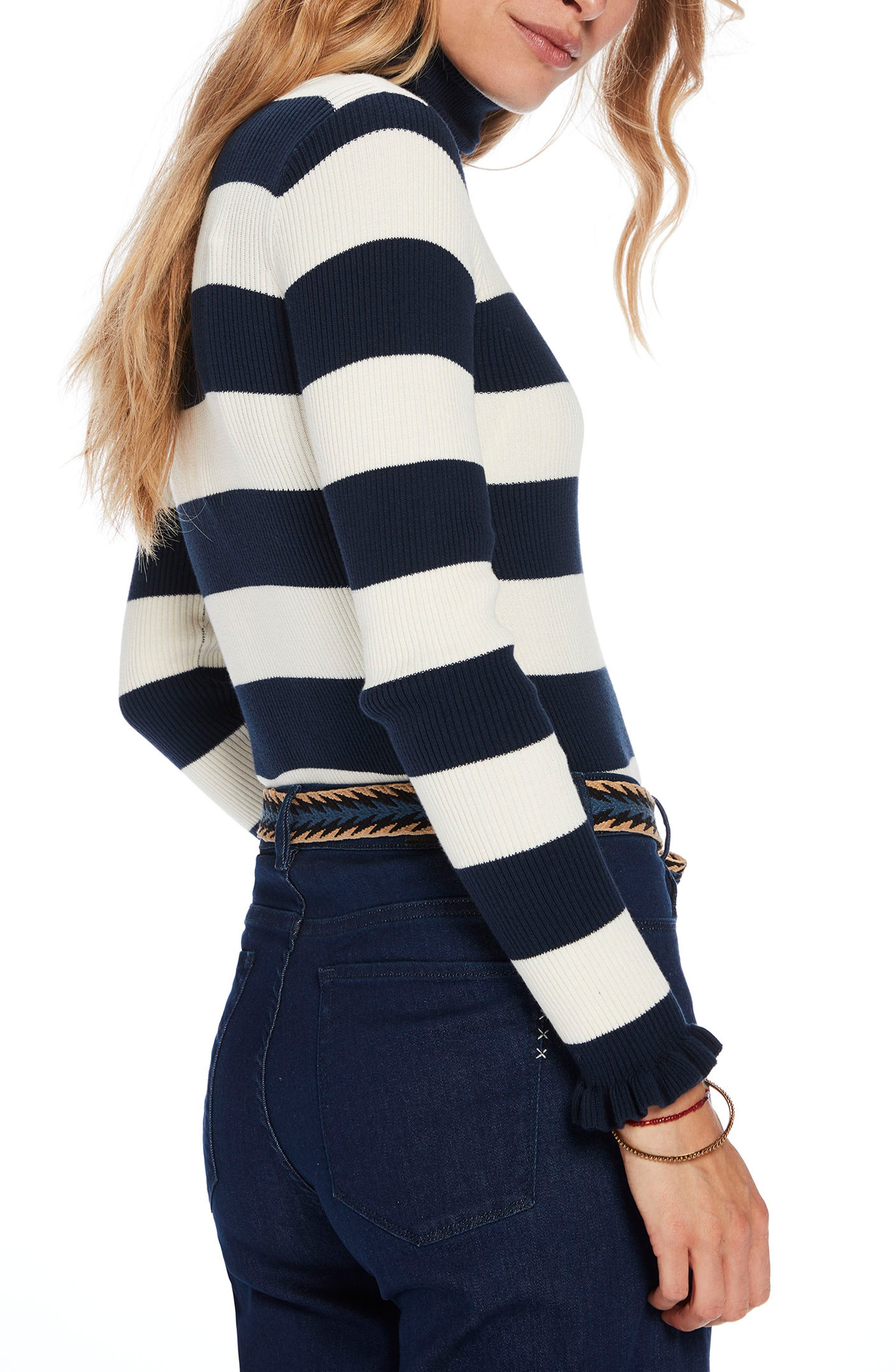 Alternate Image 2  - Scotch & Soda Stripe Turtleneck