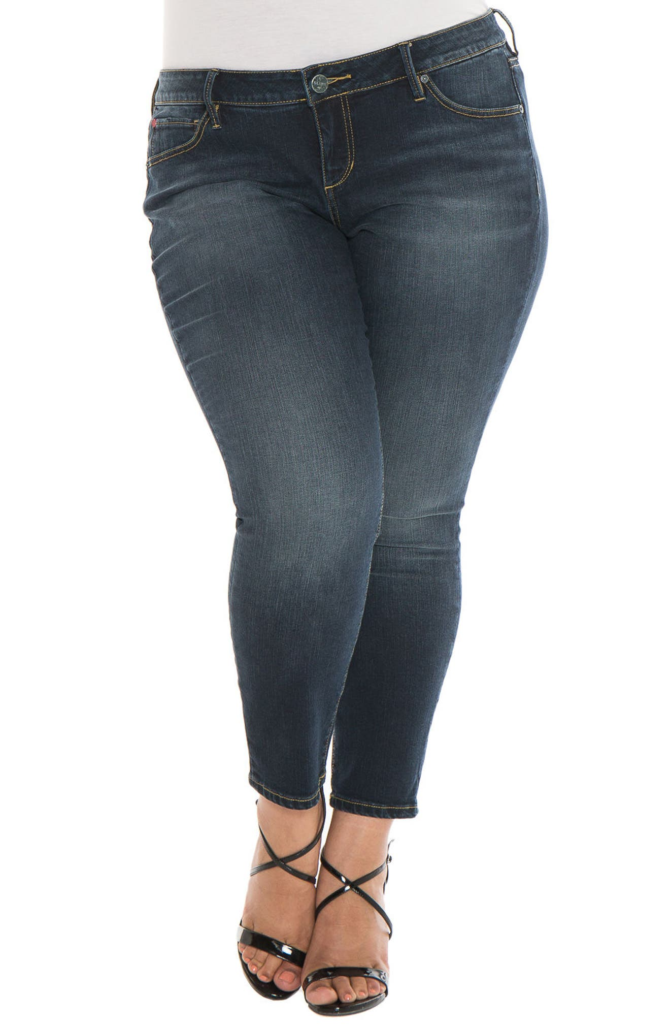 Alternate Image 1 Selected - SLINK Jeans Skinny Ankle Jeans (Sal) (Plus Size)