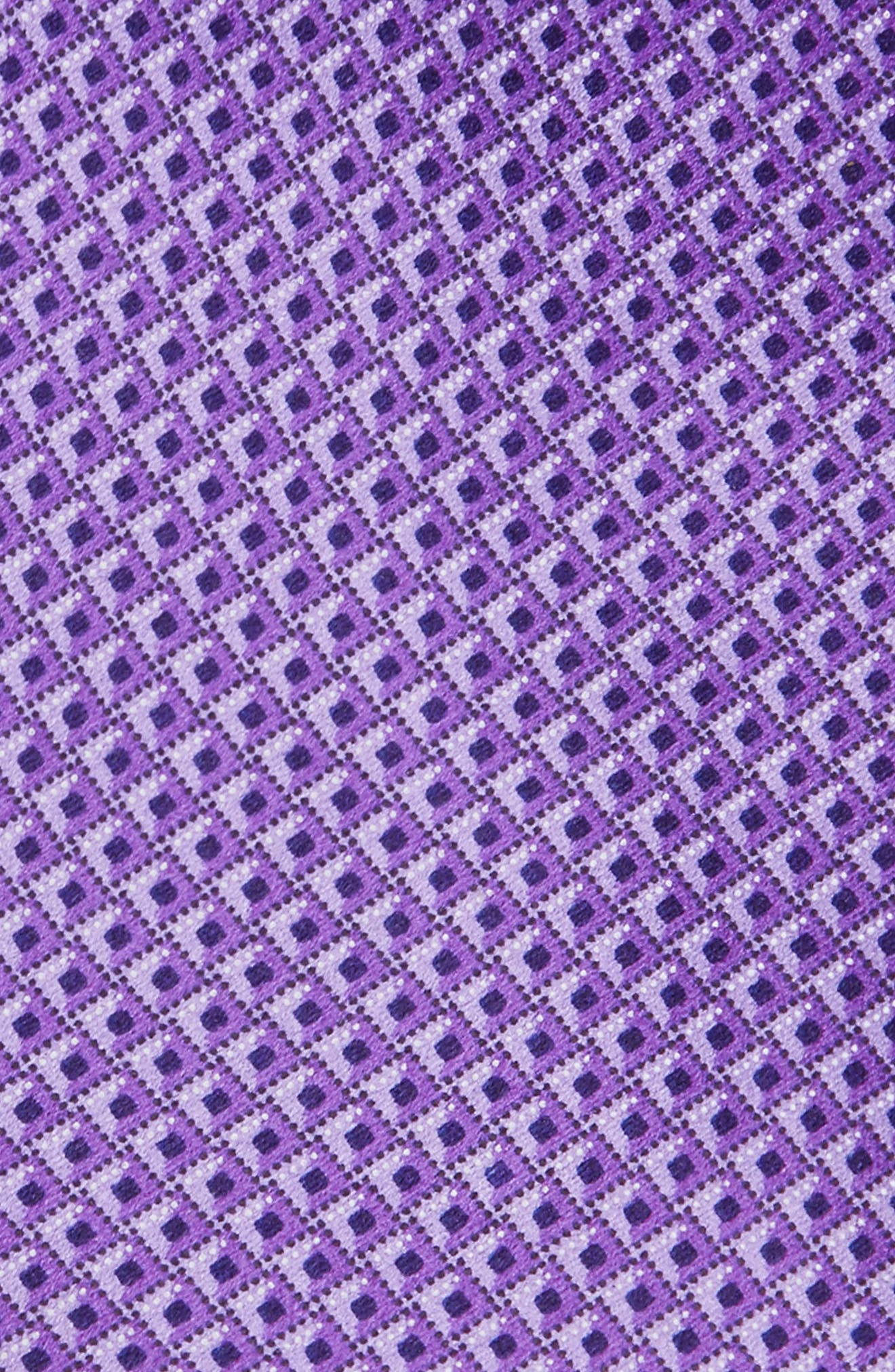 Solid Silk Tie,                             Alternate thumbnail 2, color,                             Purple