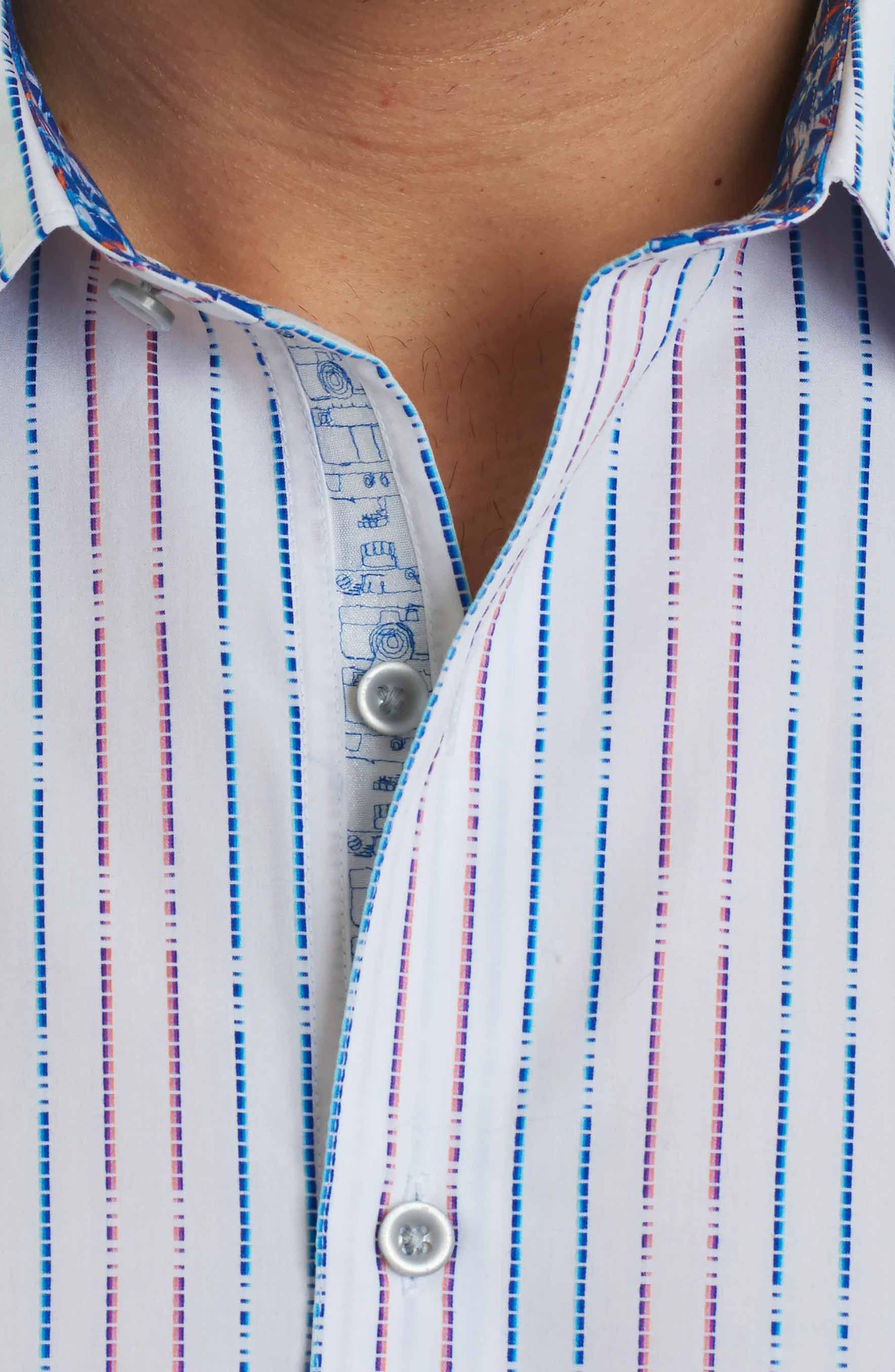 Bora Classic Fit Sport Shirt,                             Alternate thumbnail 4, color,                             White