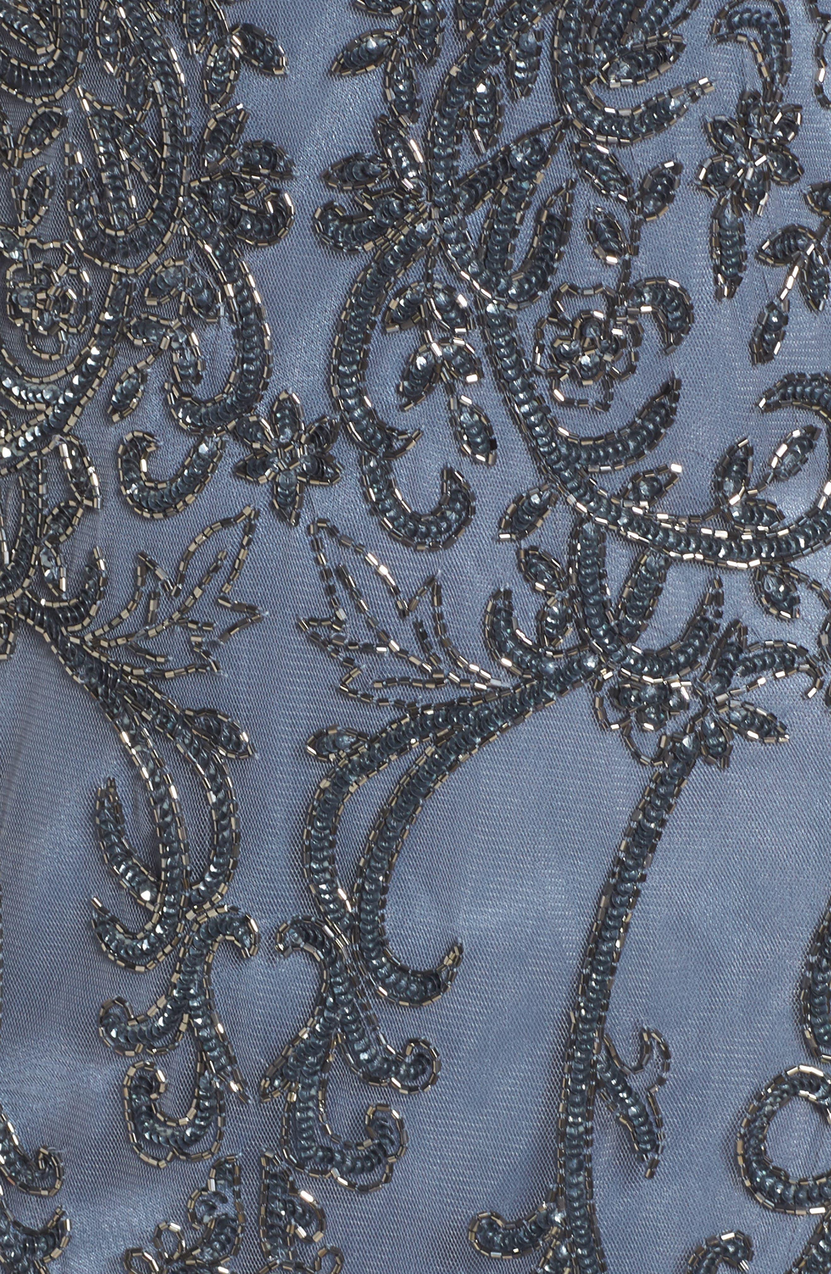 Alternate Image 5  - Pisarro Nights Embellished Mesh Sheath Dress (Regular & Petite)
