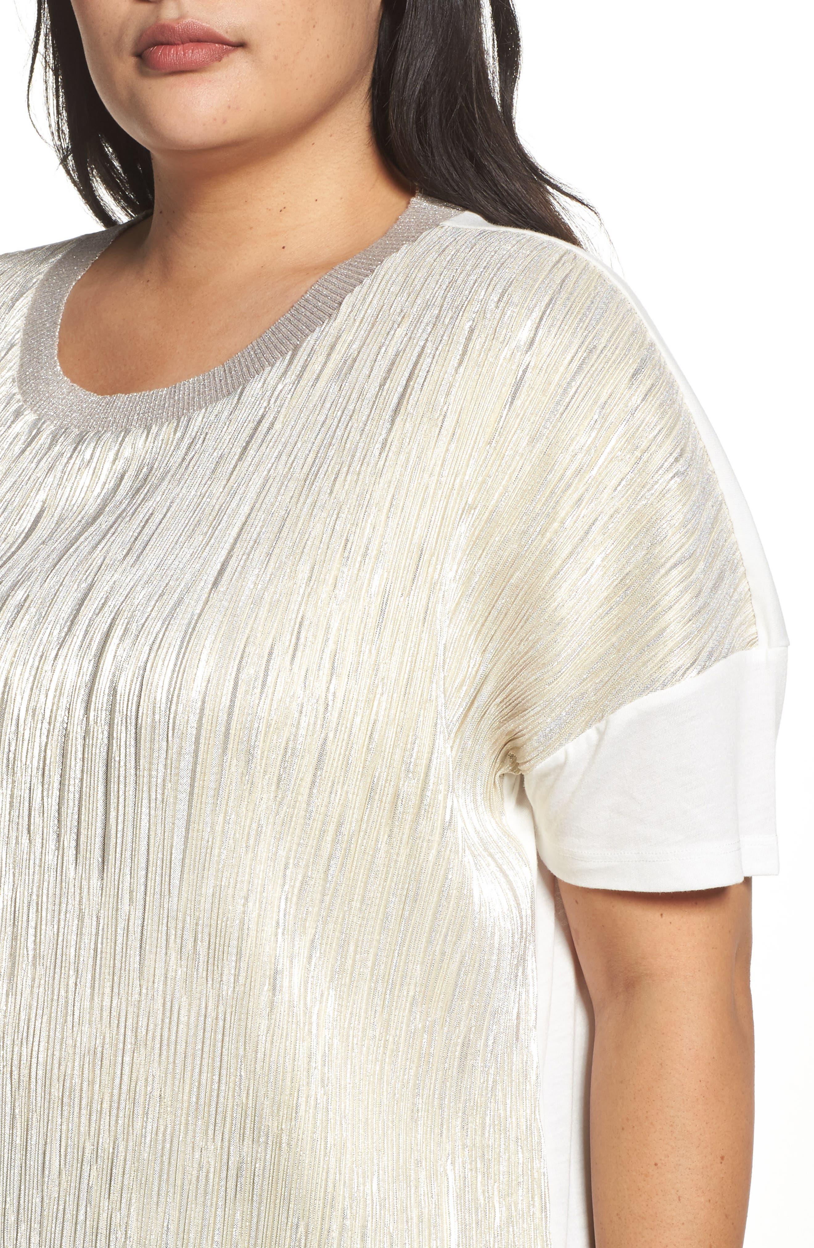 Alternate Image 4  - Dantelle Ribbed Foil Top (Plus Size)