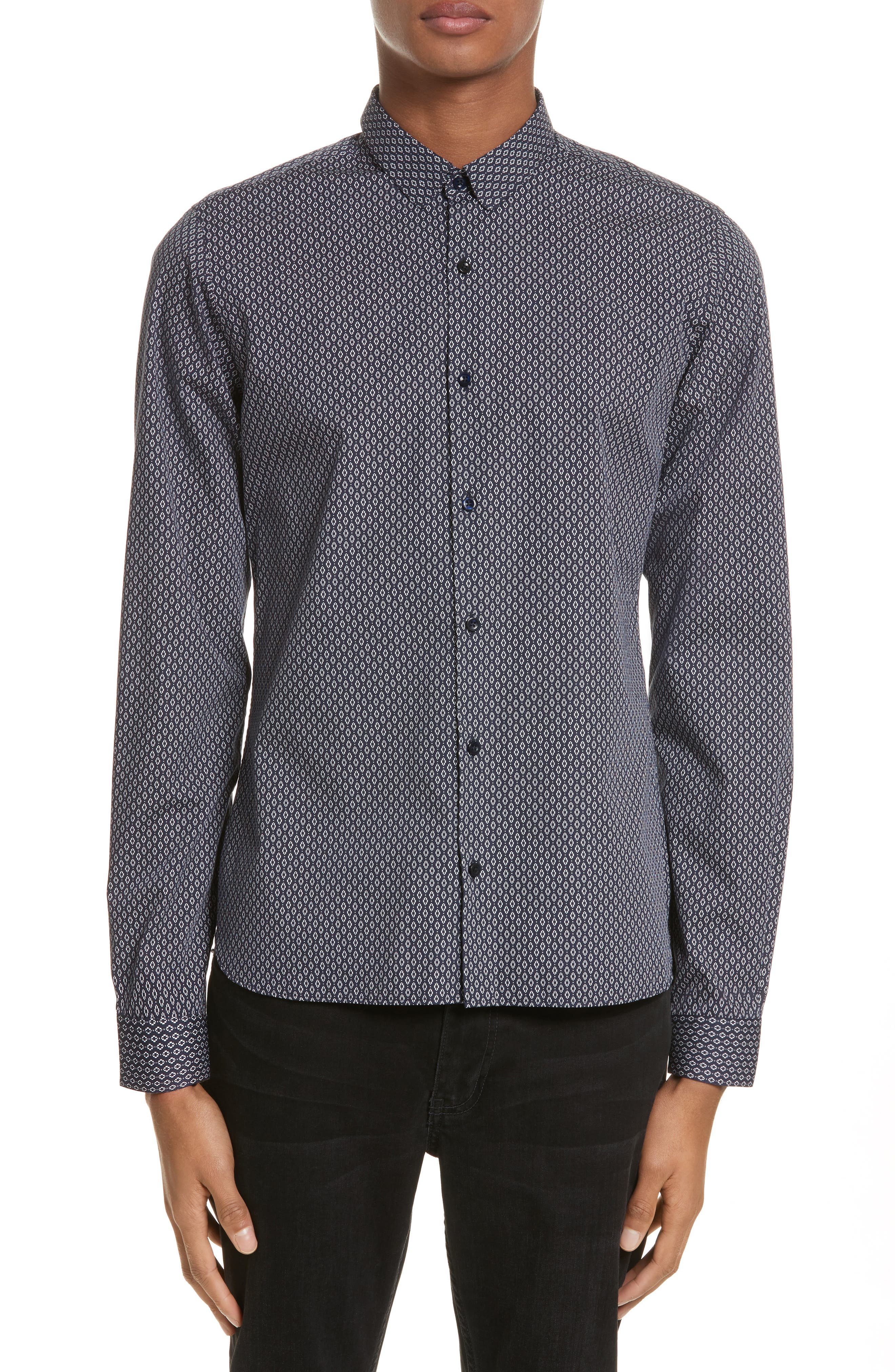 Alternate Image 1 Selected - The Kooples Diamond Print Shirt