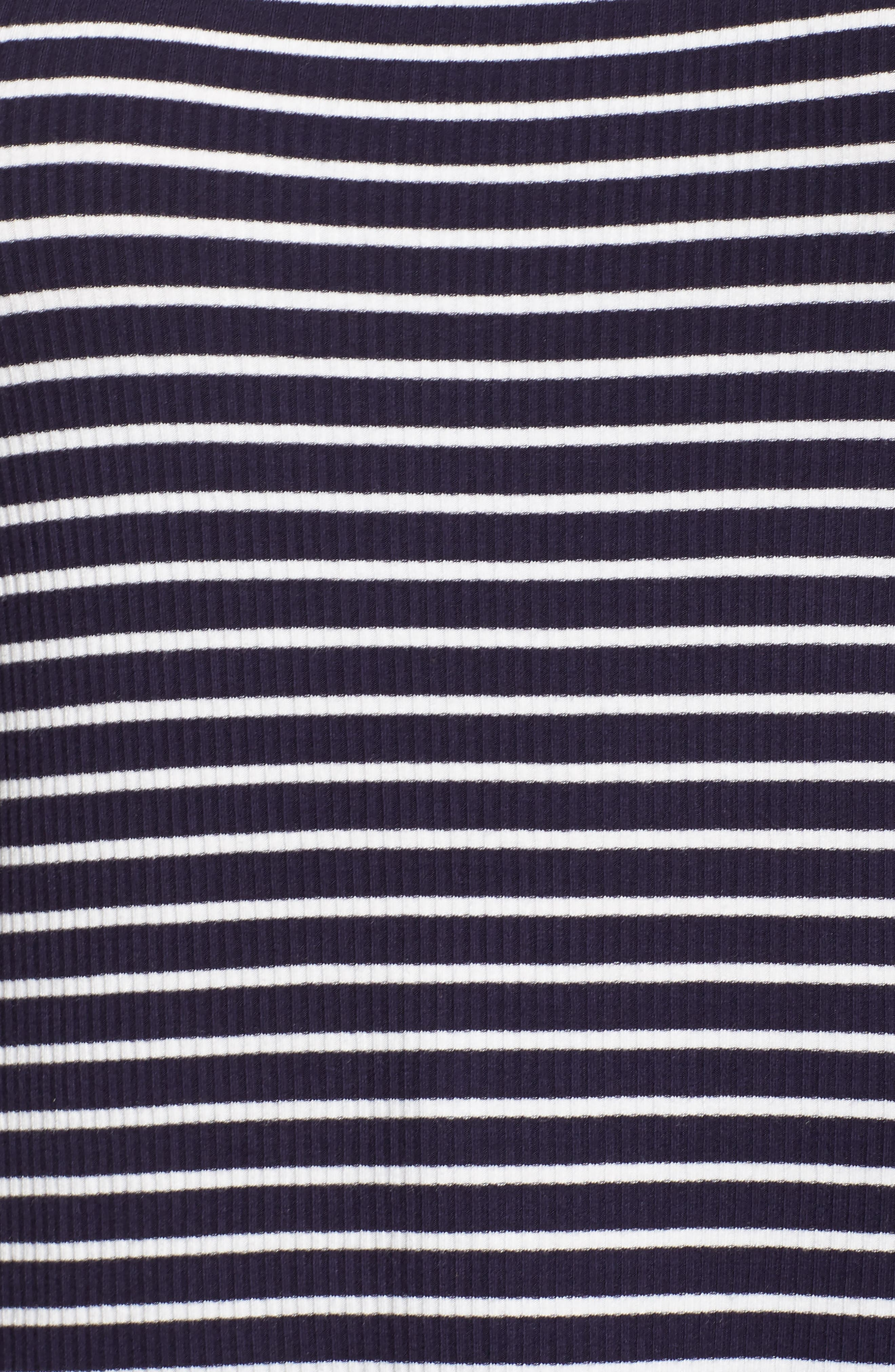 Scoop Neck Long Sleeve Tee,                             Alternate thumbnail 5, color,                             Navy- White Stripe