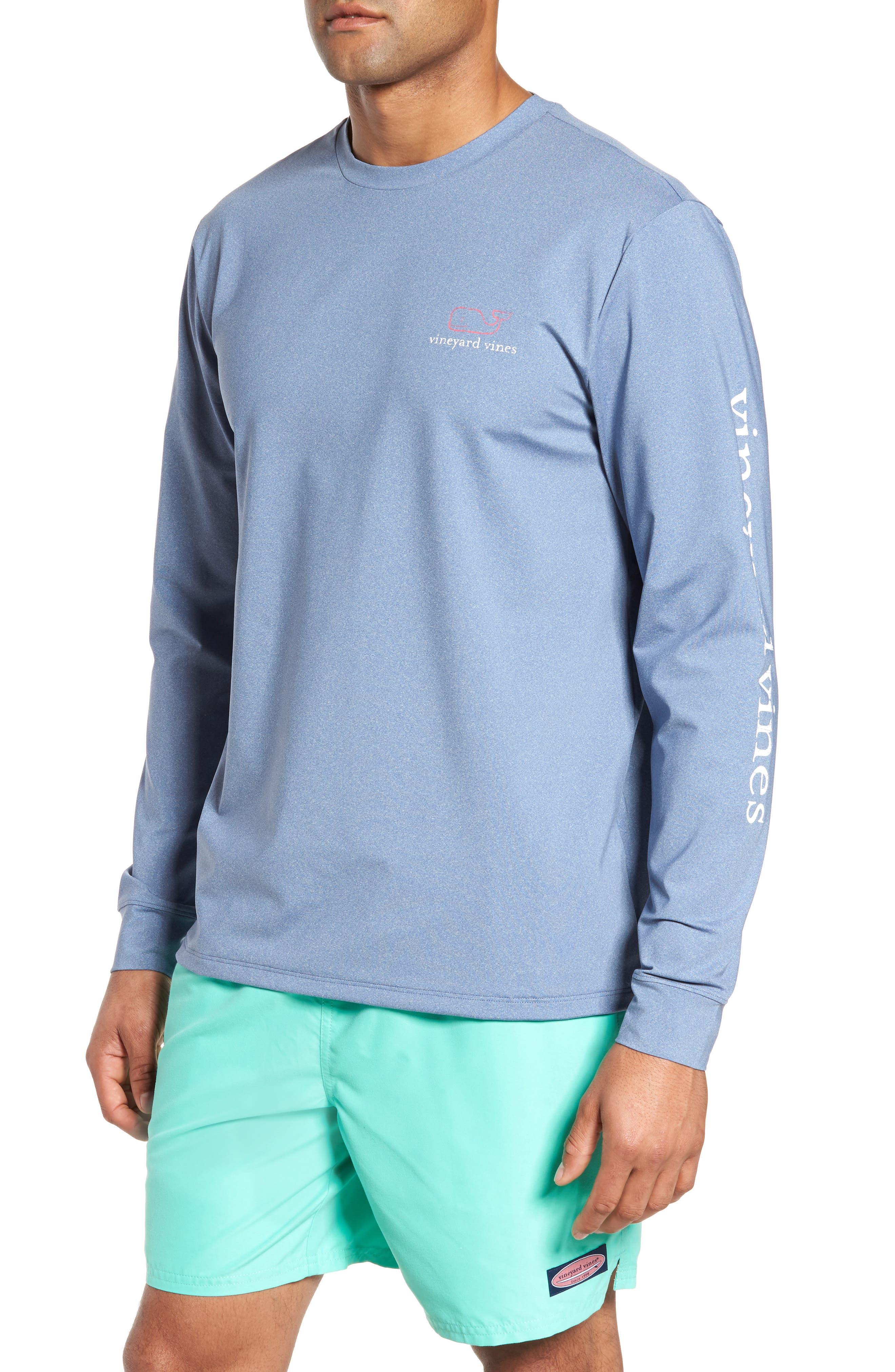 Vintage Whale Performance T-Shirt,                         Main,                         color, Moonshine