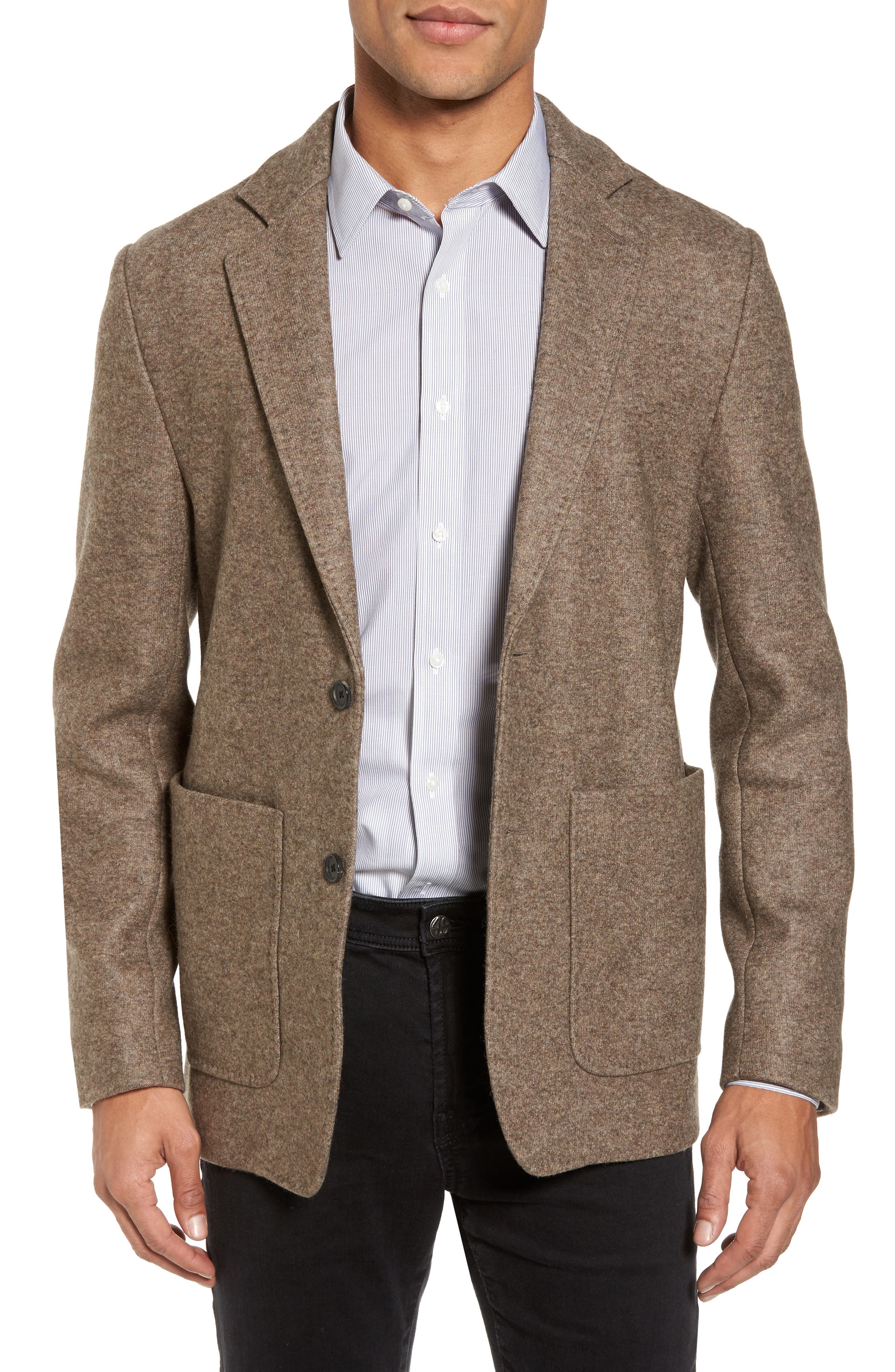 Dylan Knit Wool Blend Sport Coat,                             Main thumbnail 1, color,                             Taupe
