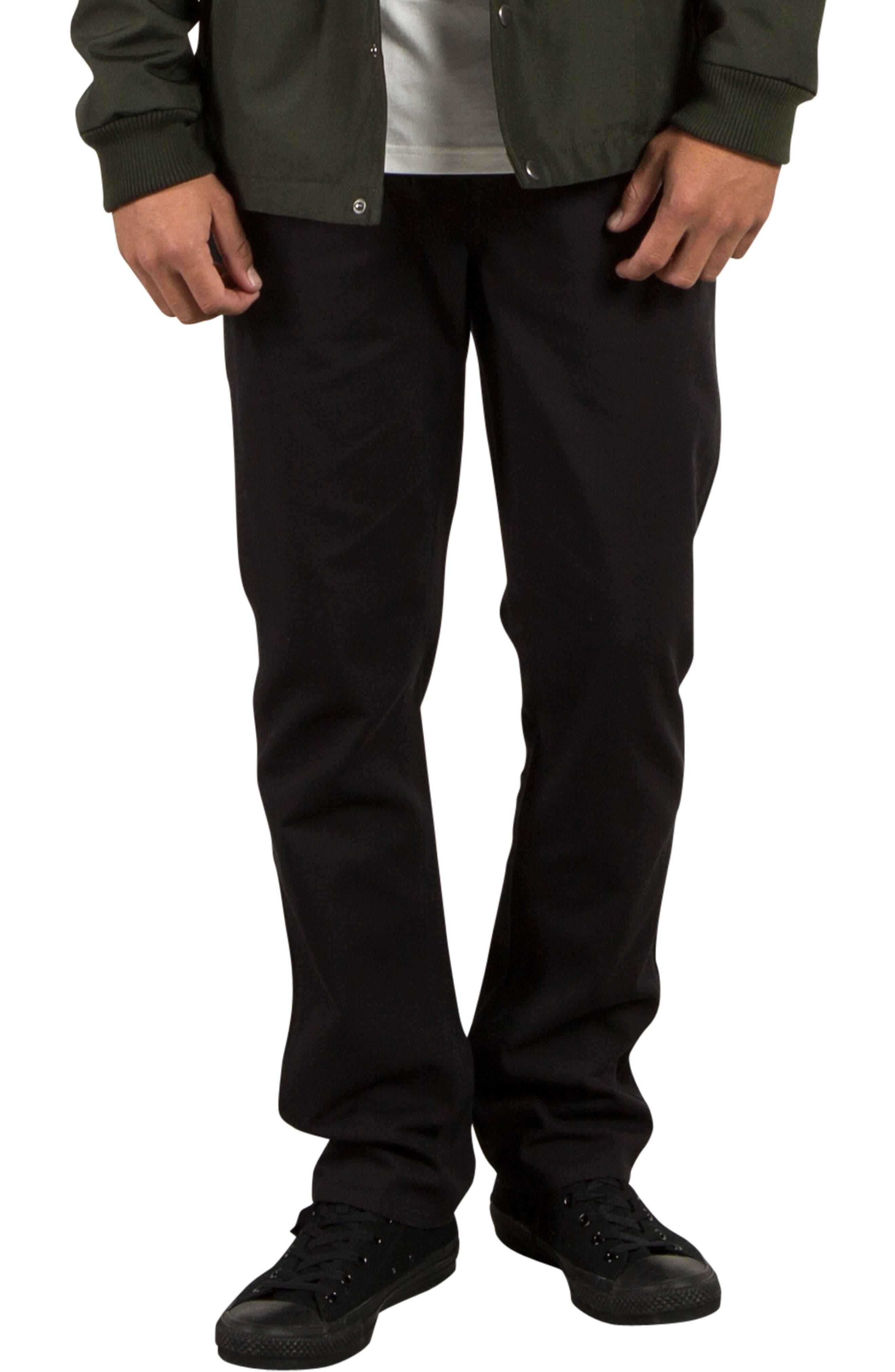 VSM Gritter Slim Chinos,                         Main,                         color, Black